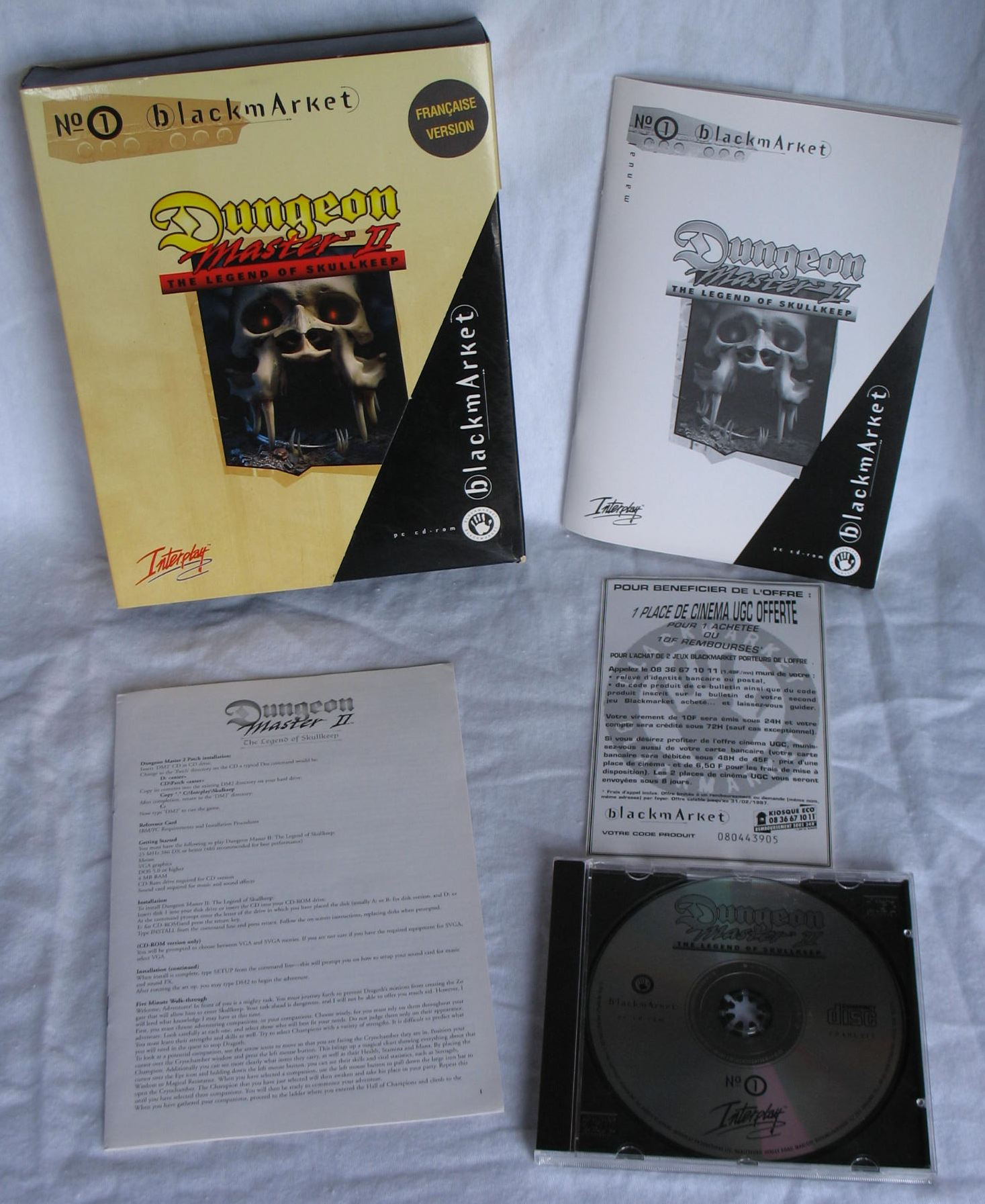 Game - Dungeon Master II - FR - PC - Blackmarket With Manual - All - Overview - Photo