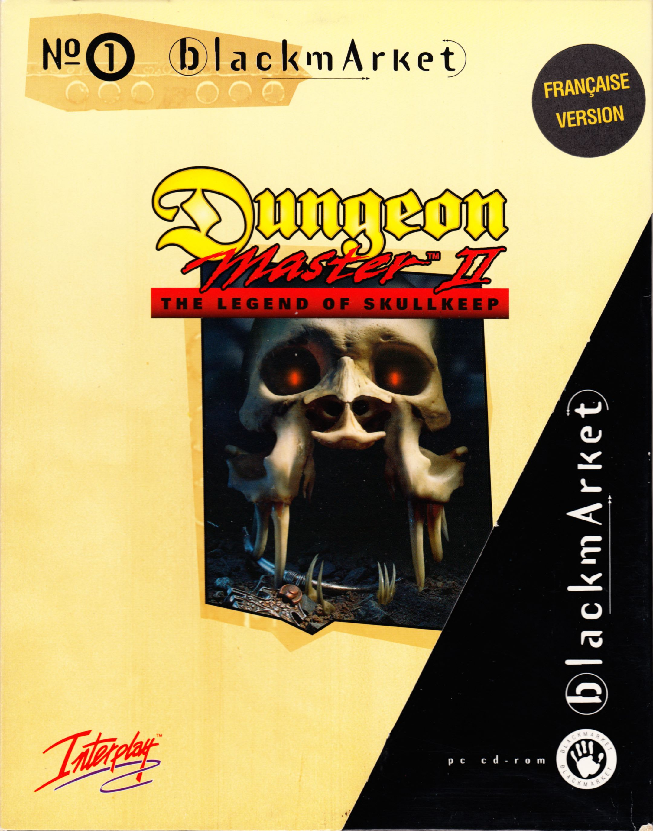 Game - Dungeon Master II - FR - PC - Blackmarket With Manual - Box With Sleeve With Sticker - Front - Scan
