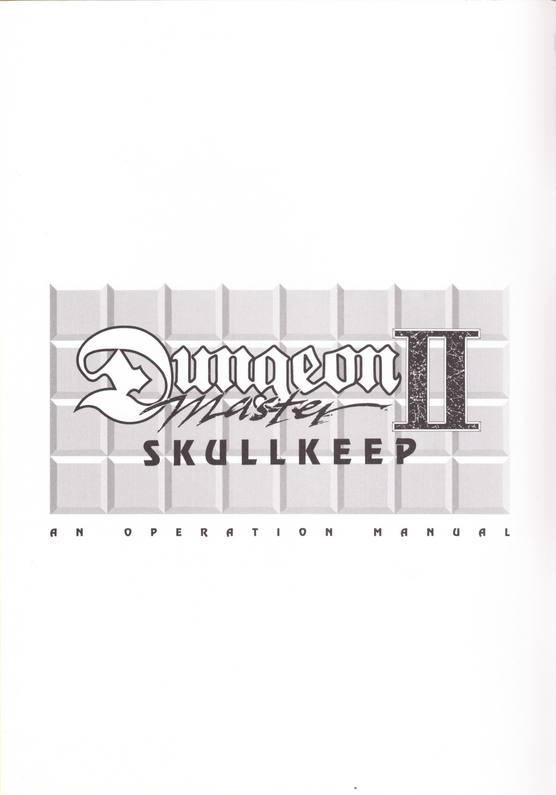 Game - Dungeon Master II - JP - PC-9801 - 3.5-inch - An Operation Manual - Page 002 - Scan