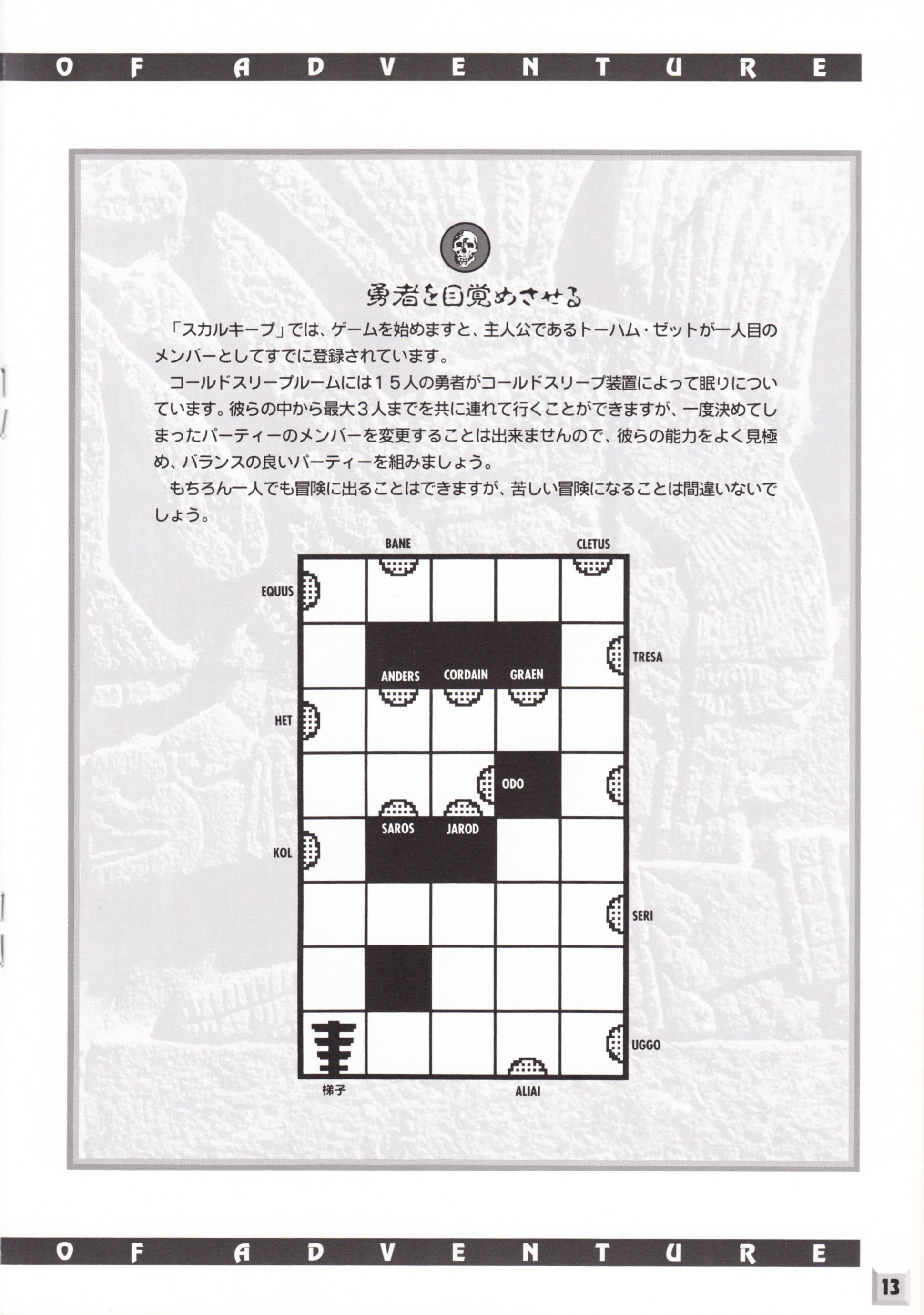 Game - Dungeon Master II - JP - PC-9801 - 3.5-inch - The Guidance Of Adventure - Page 015 - Scan