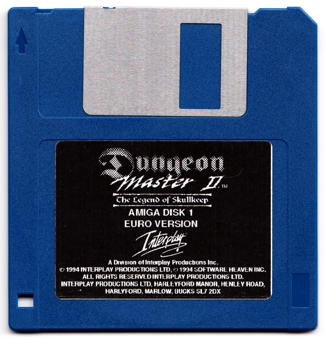 Game - Dungeon Master II - UK - Amiga Alternate - Disk 1 - Front - Scan