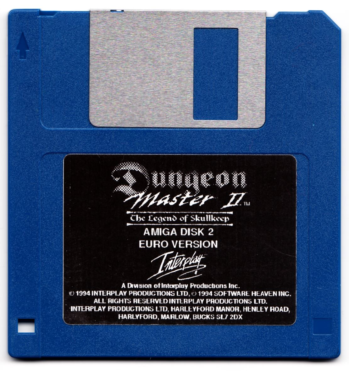 Game - Dungeon Master II - UK - Amiga Alternate - Disk 2 - Front - Scan