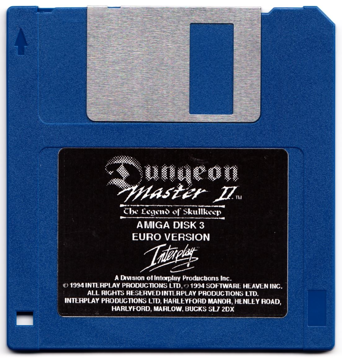 Game - Dungeon Master II - UK - Amiga Alternate - Disk 3 - Front - Scan