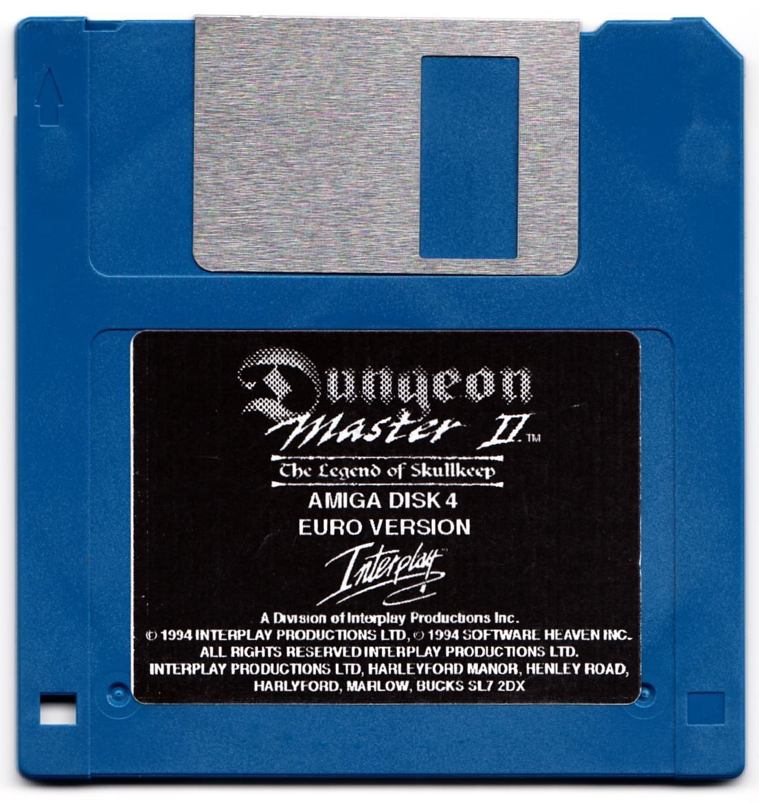 Game - Dungeon Master II - UK - Amiga Alternate - Disk 4 - Front - Scan