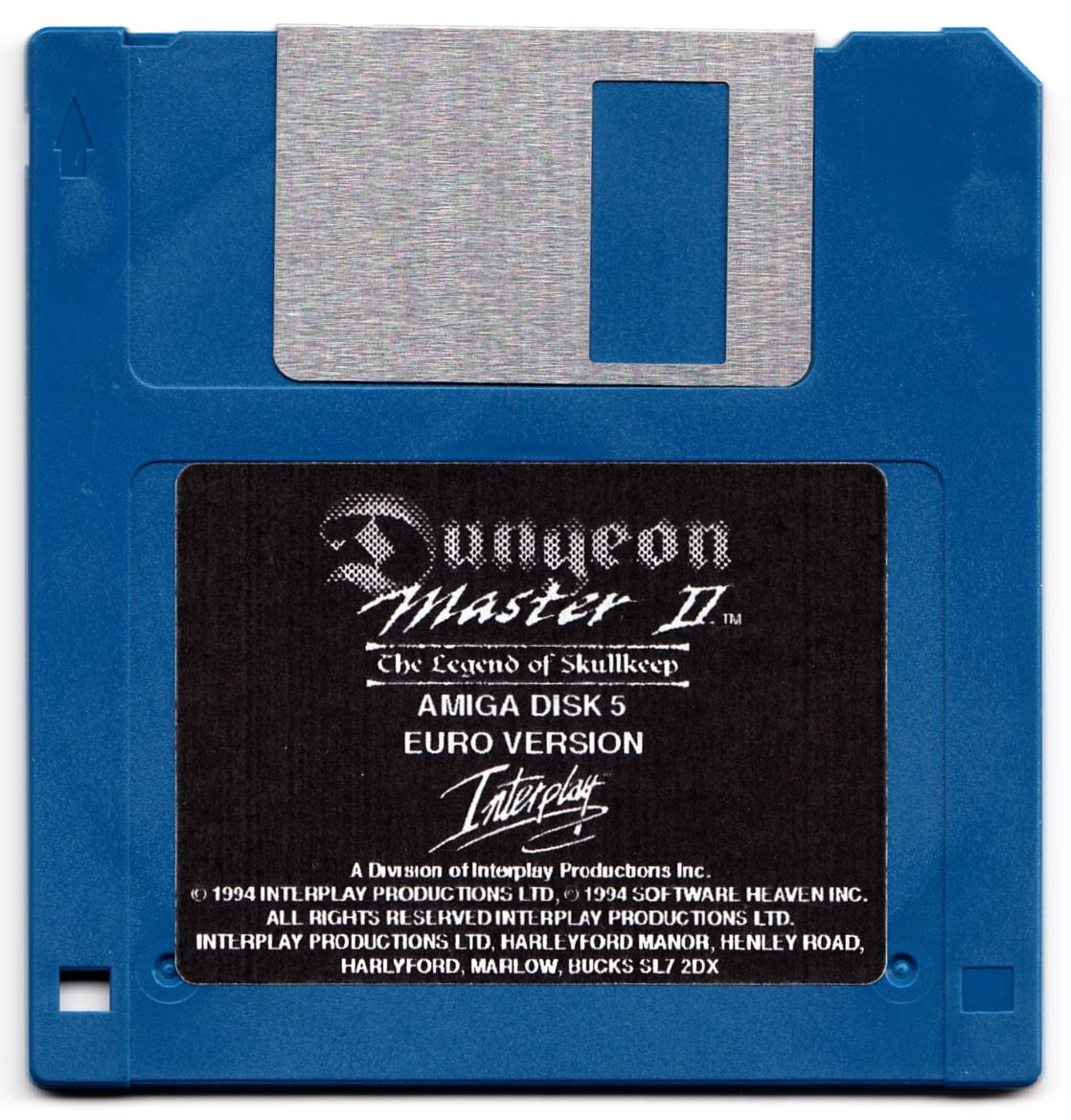 Game - Dungeon Master II - UK - Amiga Alternate - Disk 5 - Front - Scan