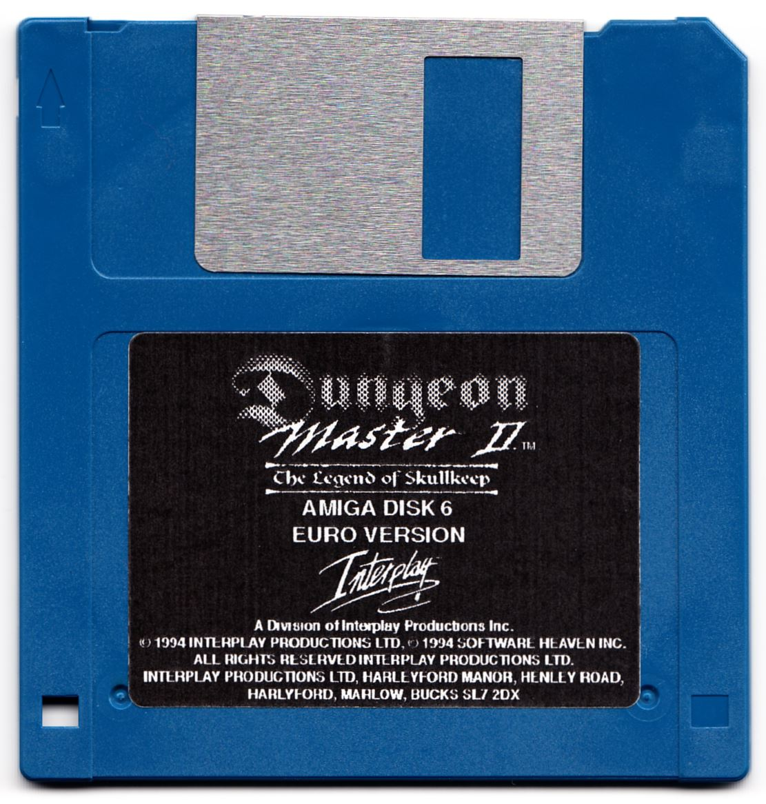 Game - Dungeon Master II - UK - Amiga Alternate - Disk 6 - Front - Scan
