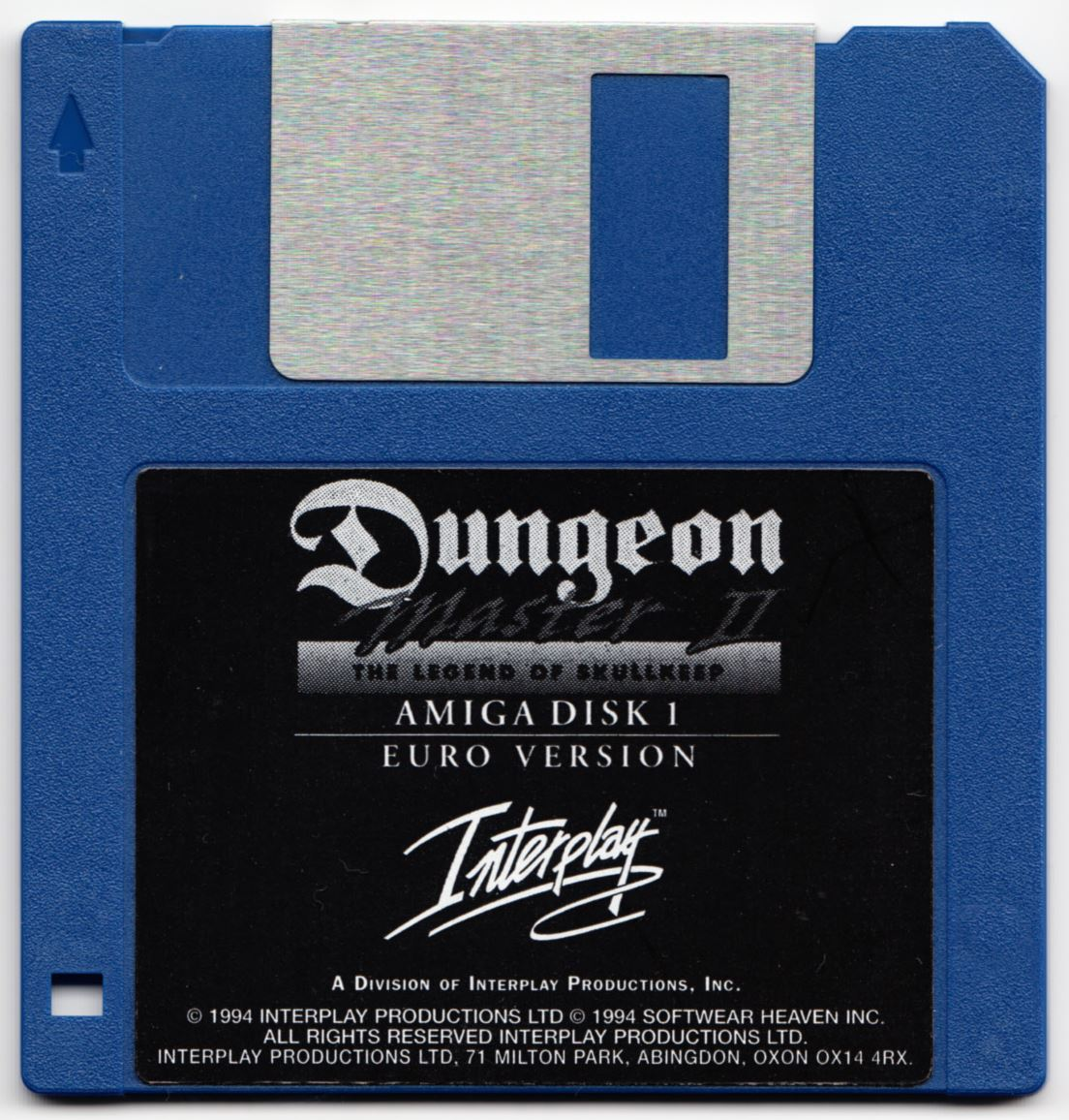Game - Dungeon Master II - UK - Amiga - Disk 1 - Front - Scan
