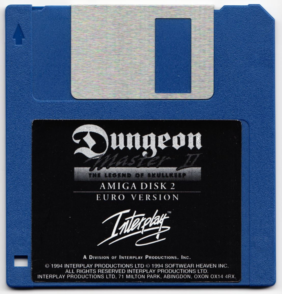 Game - Dungeon Master II - UK - Amiga - Disk 2 - Front - Scan