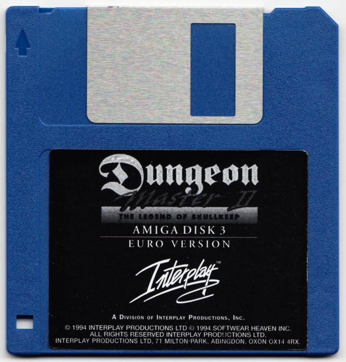 Game - Dungeon Master II - UK - Amiga - Disk 3 - Front - Scan