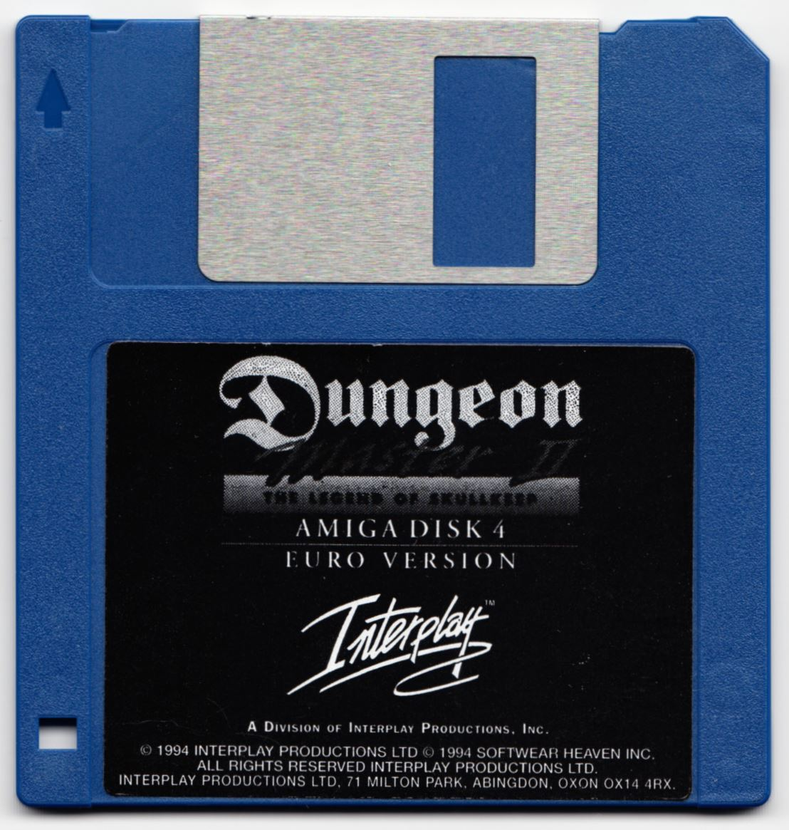 Game - Dungeon Master II - UK - Amiga - Disk 4 - Front - Scan