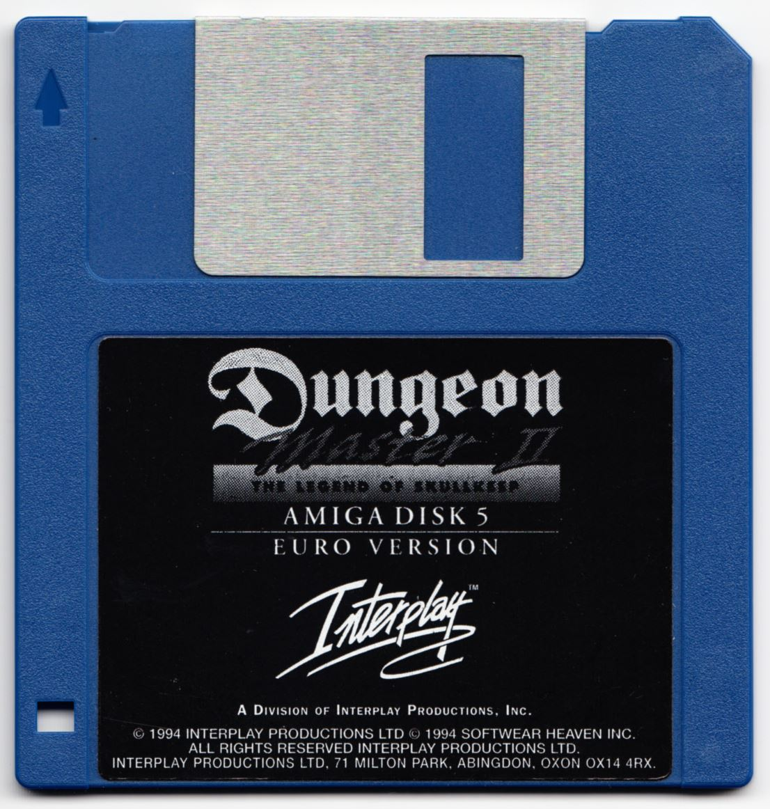 Game - Dungeon Master II - UK - Amiga - Disk 5 - Front - Scan
