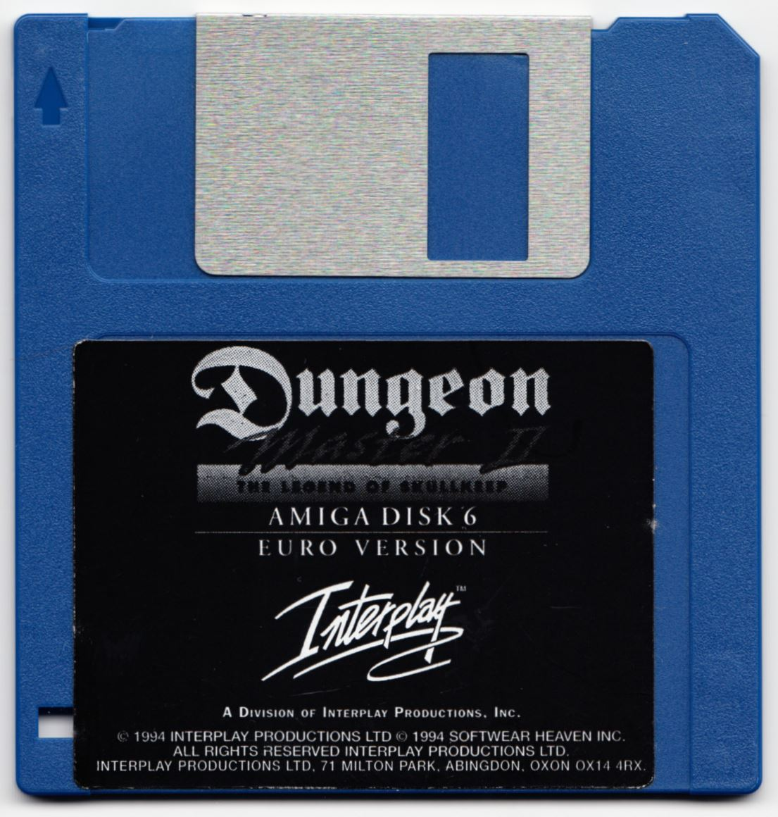 Game - Dungeon Master II - UK - Amiga - Disk 6 - Front - Scan