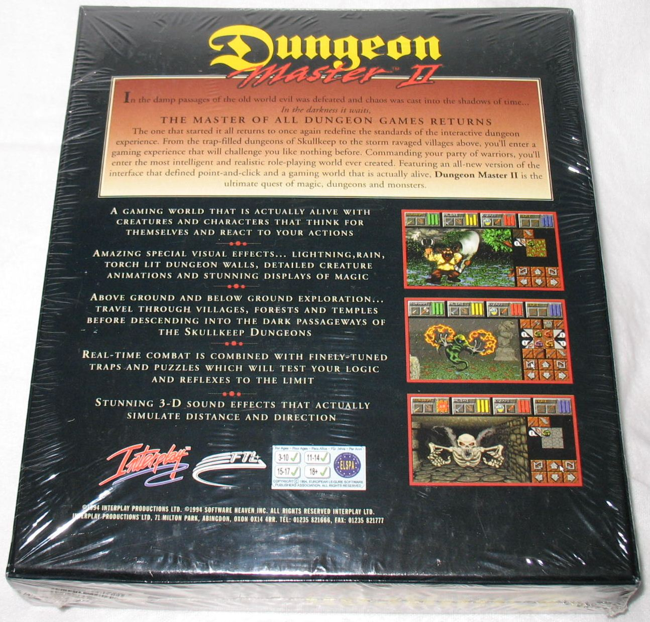 Game - Dungeon Master II - UK - Macintosh - Box - Back - Photo