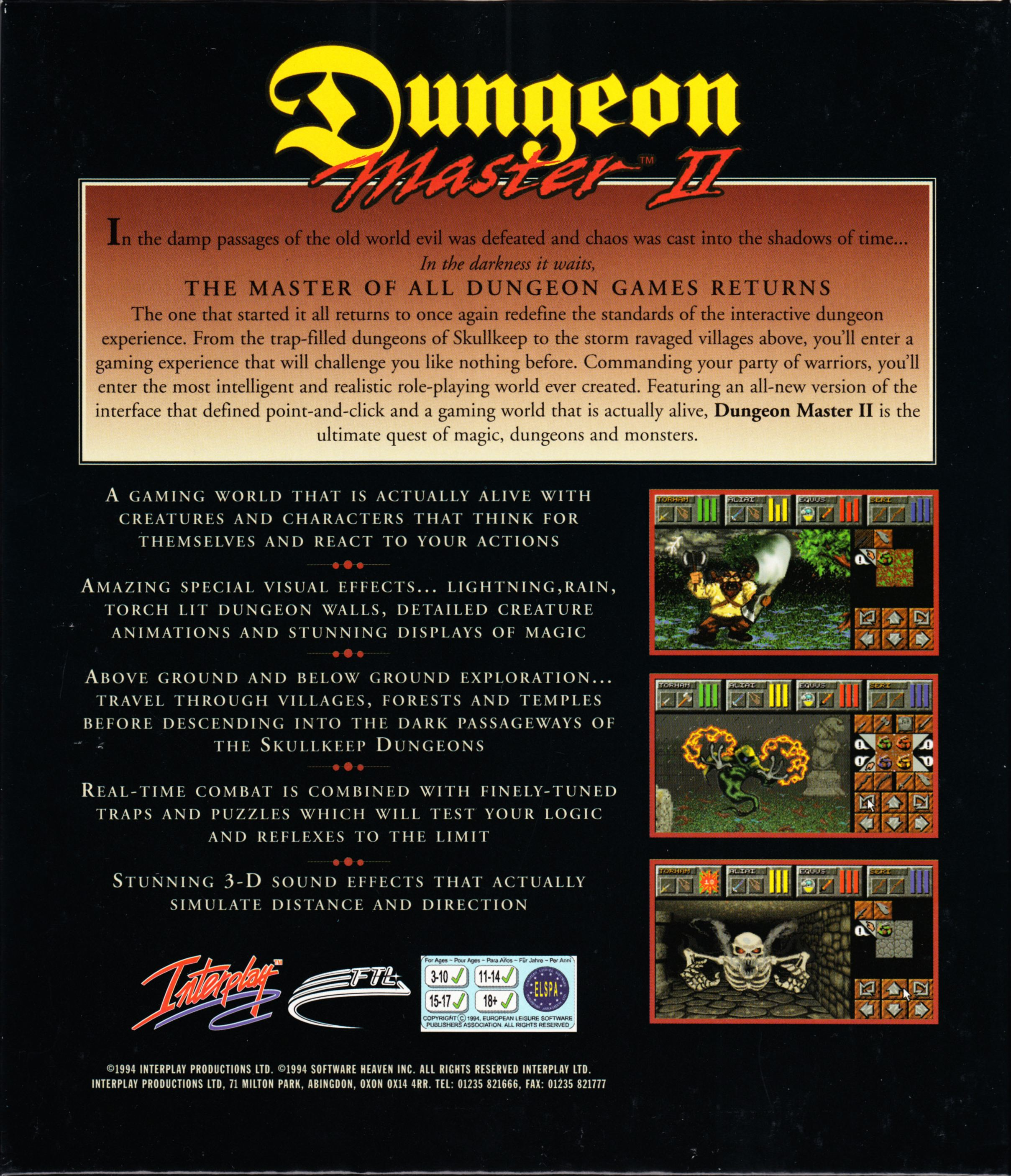 Game - Dungeon Master II - UK - Macintosh - Box - Back - Scan