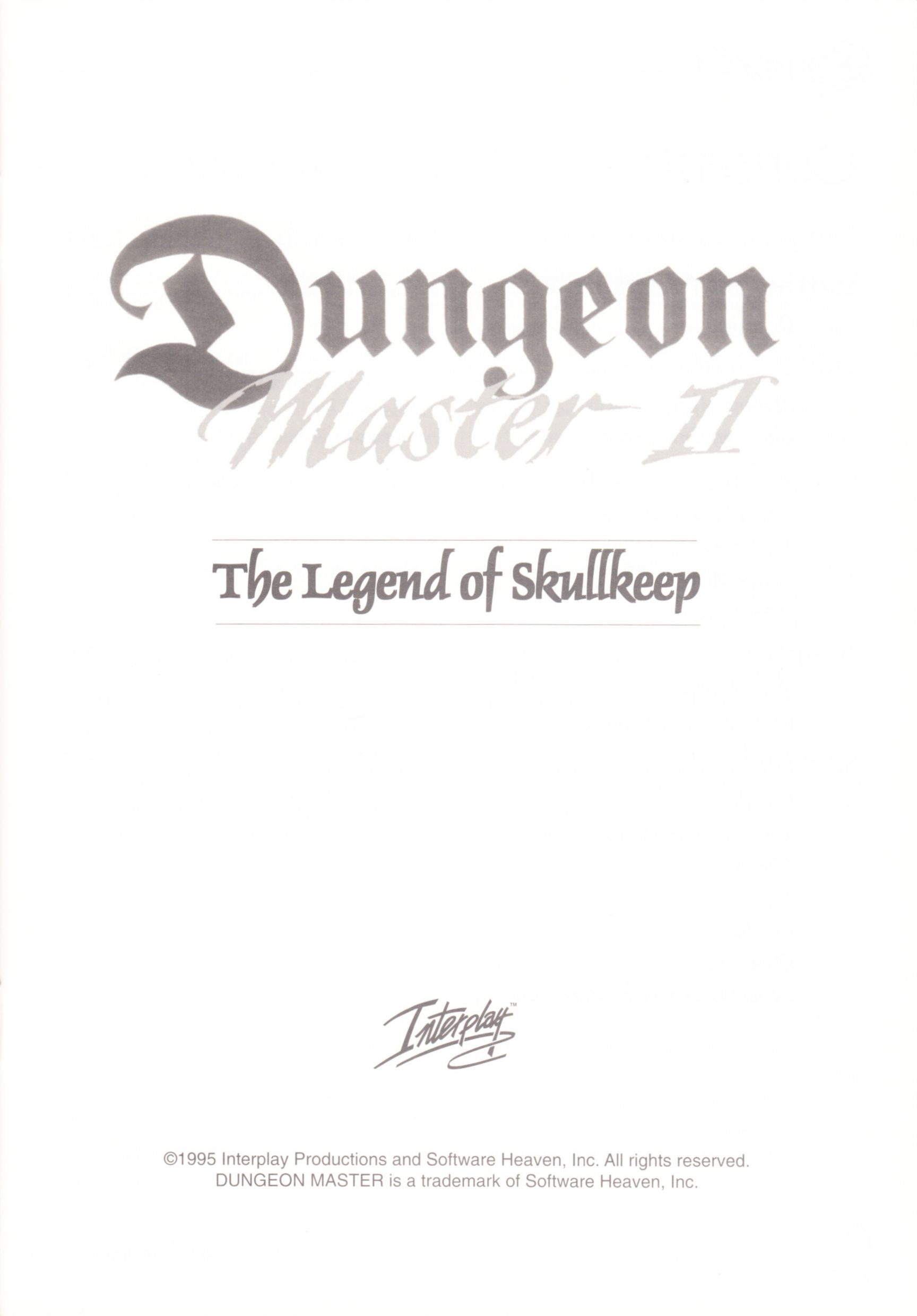 Game - Dungeon Master II - UK - Macintosh - Manual - Page 003 - Scan