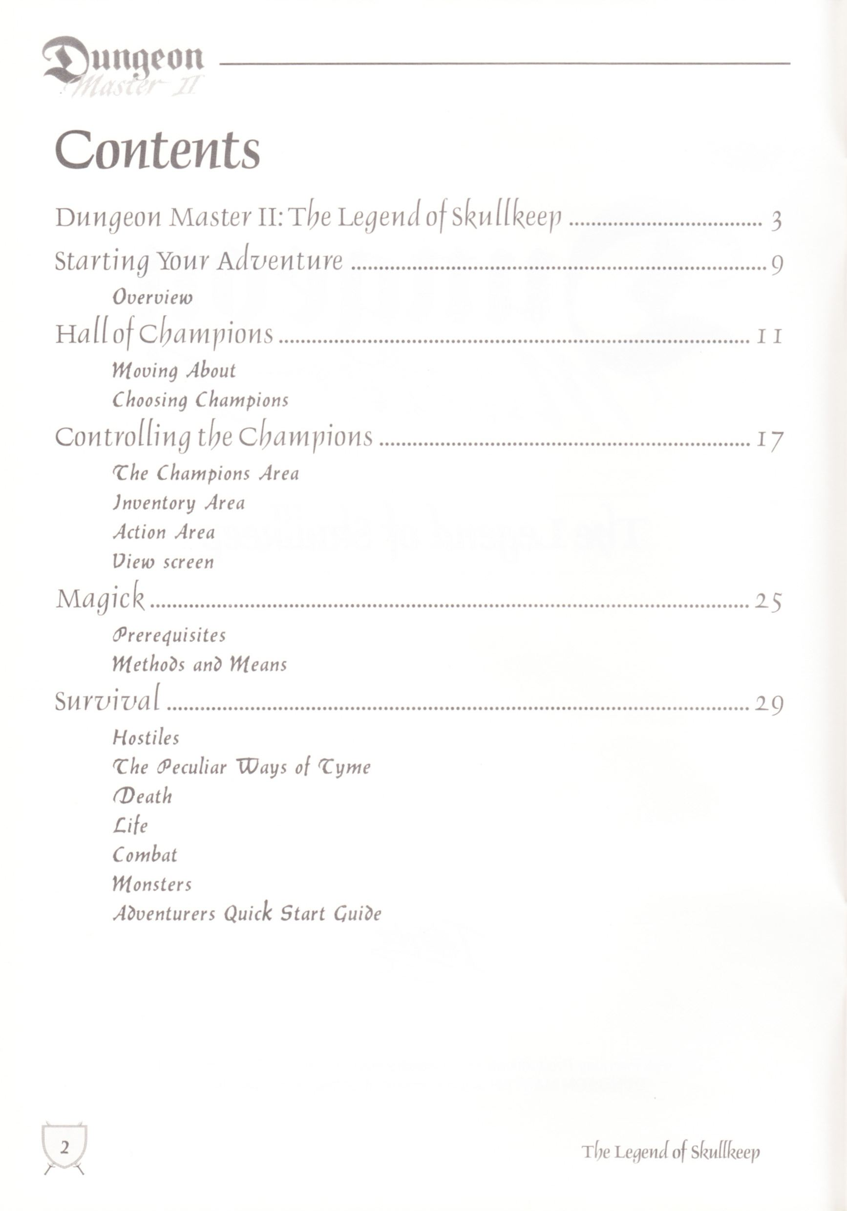 Game - Dungeon Master II - UK - Macintosh - Manual - Page 004 - Scan