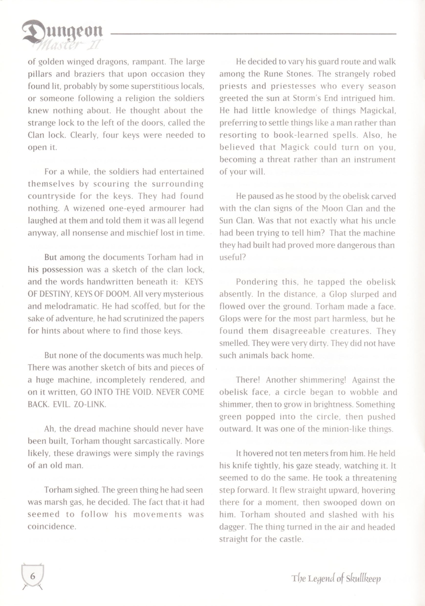 Game - Dungeon Master II - UK - Macintosh - Manual - Page 008 - Scan