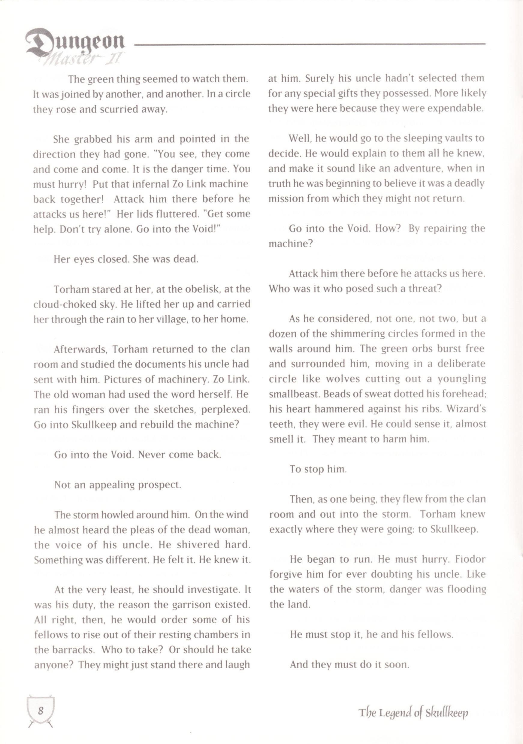 Game - Dungeon Master II - UK - Macintosh - Manual - Page 010 - Scan