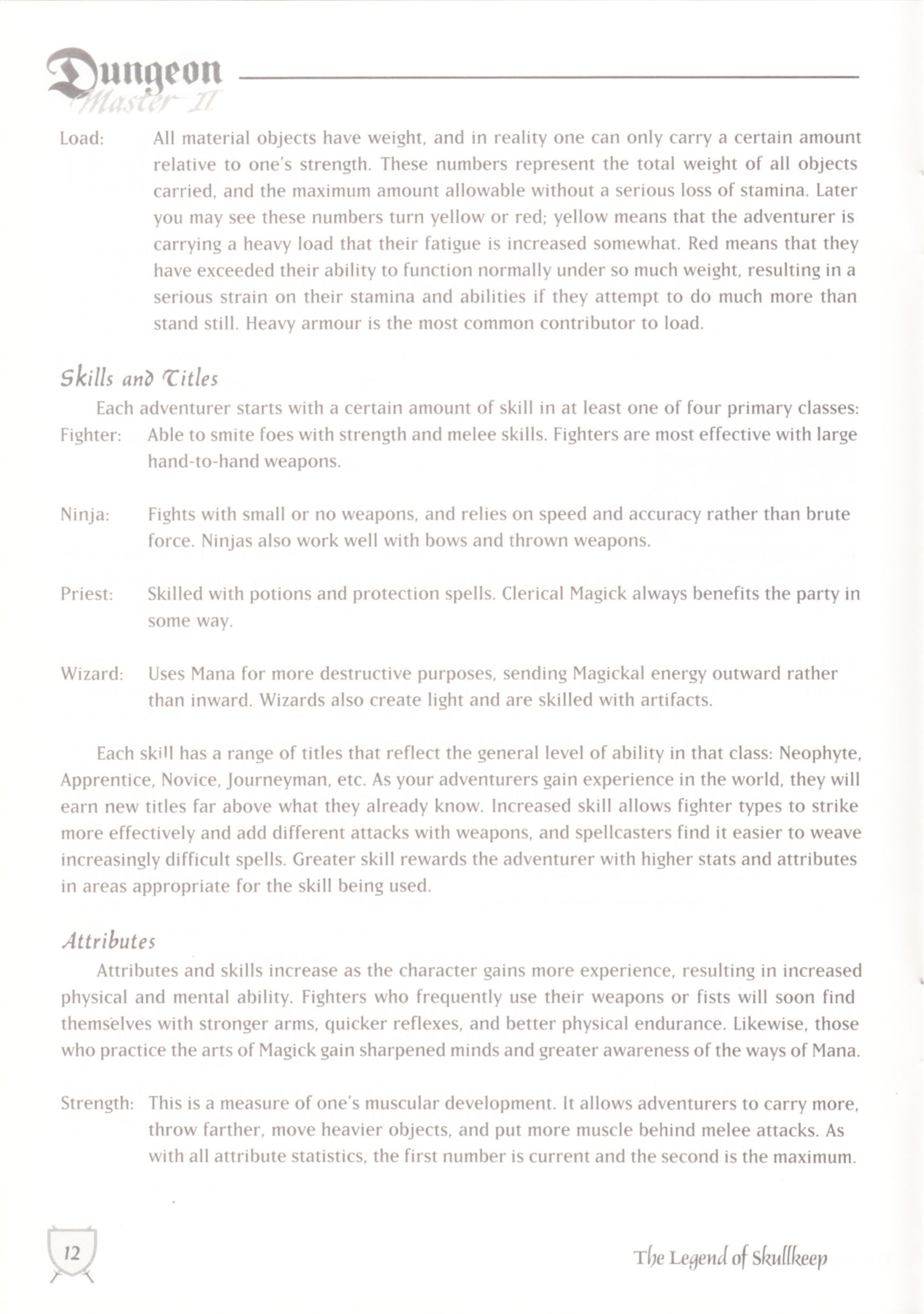 Game - Dungeon Master II - UK - Macintosh - Manual - Page 014 - Scan