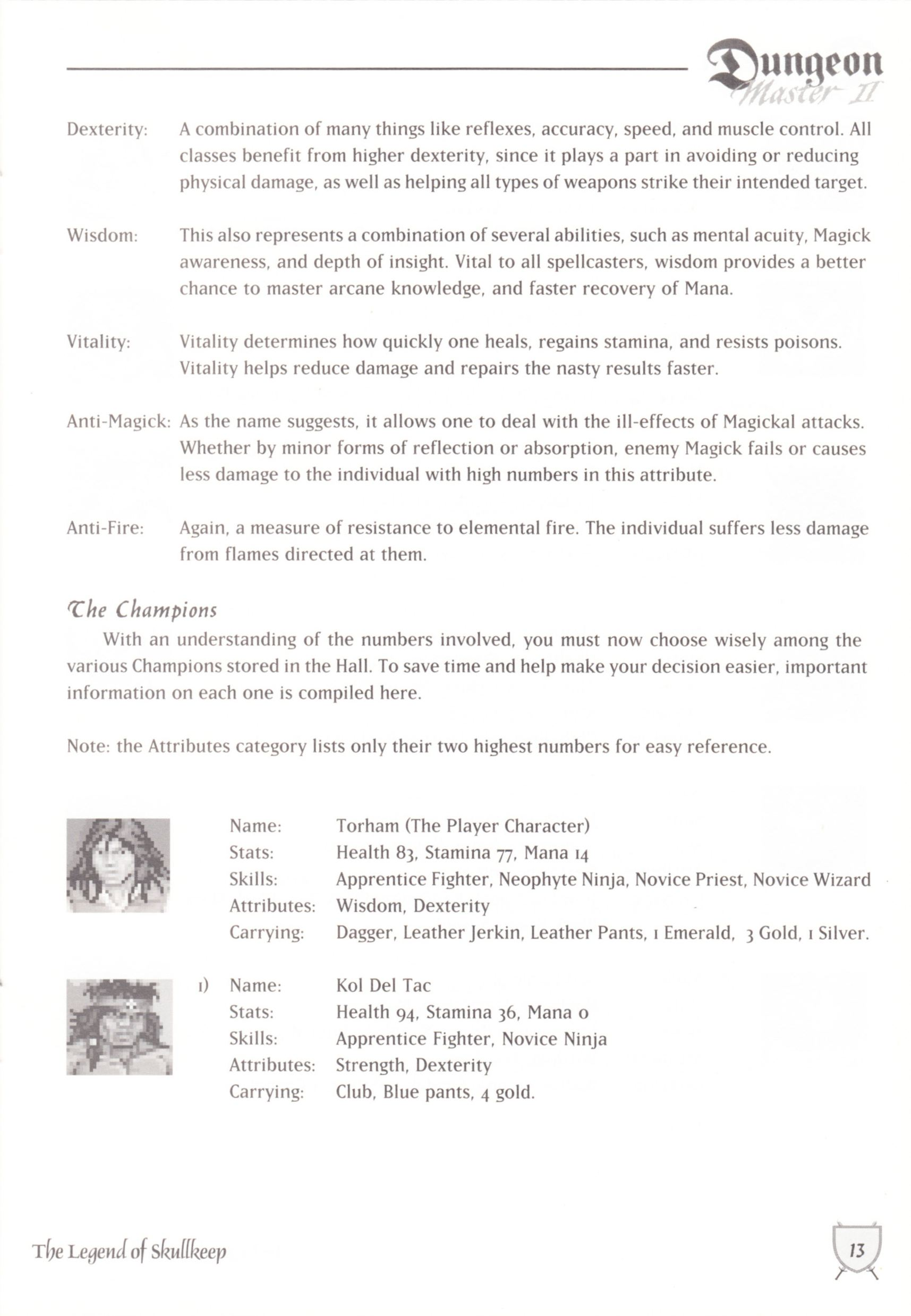 Game - Dungeon Master II - UK - Macintosh - Manual - Page 015 - Scan