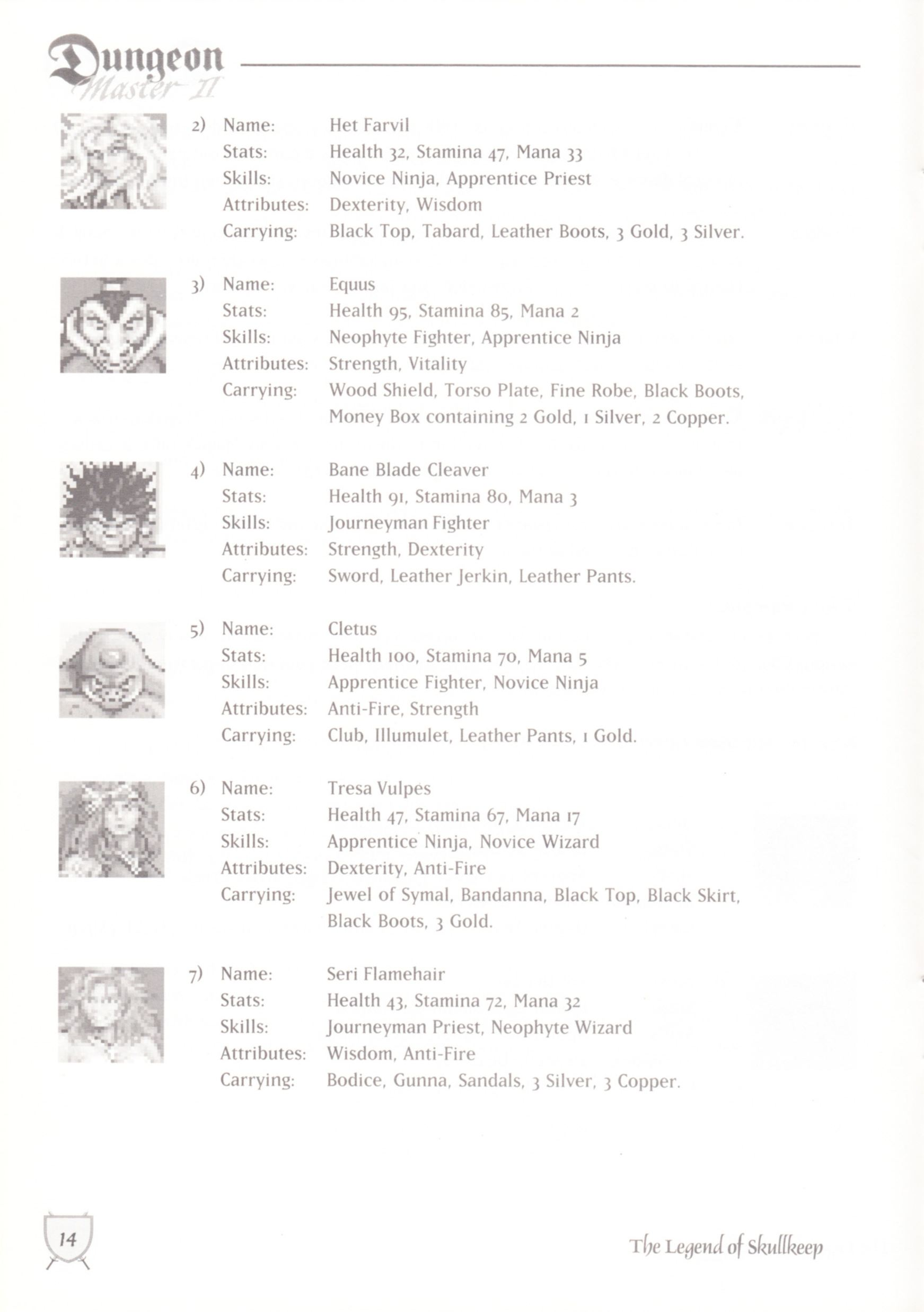 Game - Dungeon Master II - UK - Macintosh - Manual - Page 016 - Scan