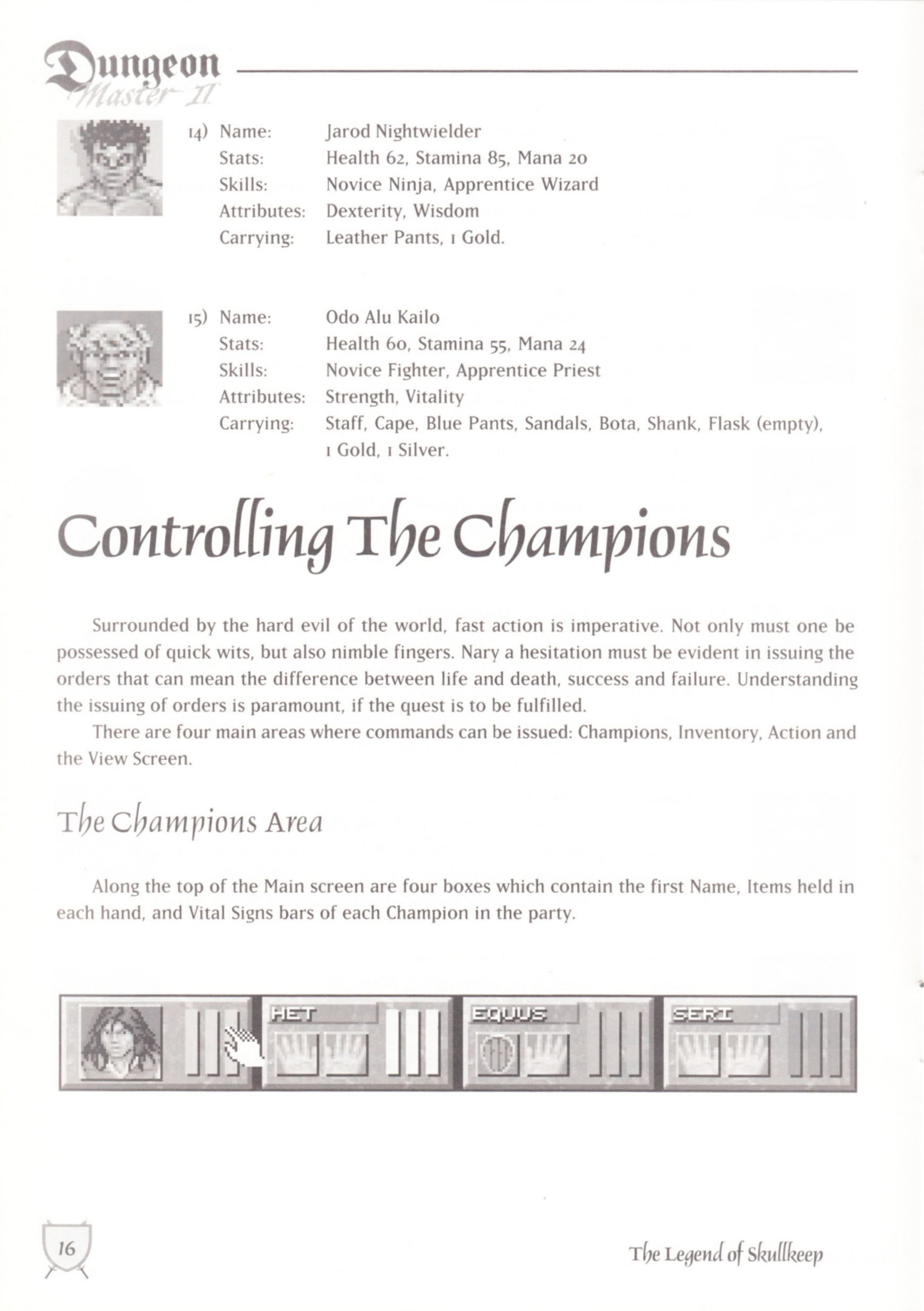 Game - Dungeon Master II - UK - Macintosh - Manual - Page 018 - Scan