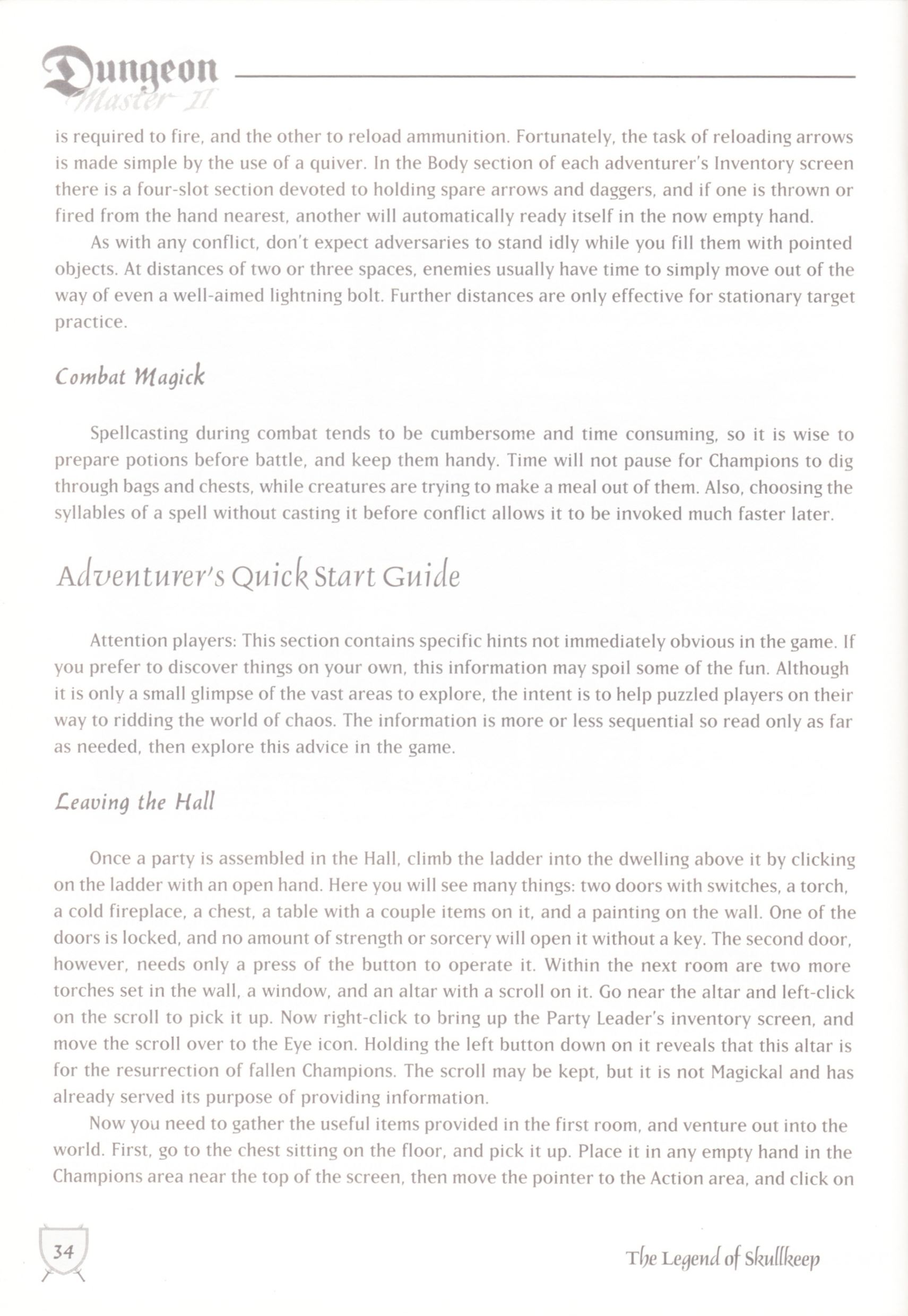 Game - Dungeon Master II - UK - Macintosh - Manual - Page 036 - Scan