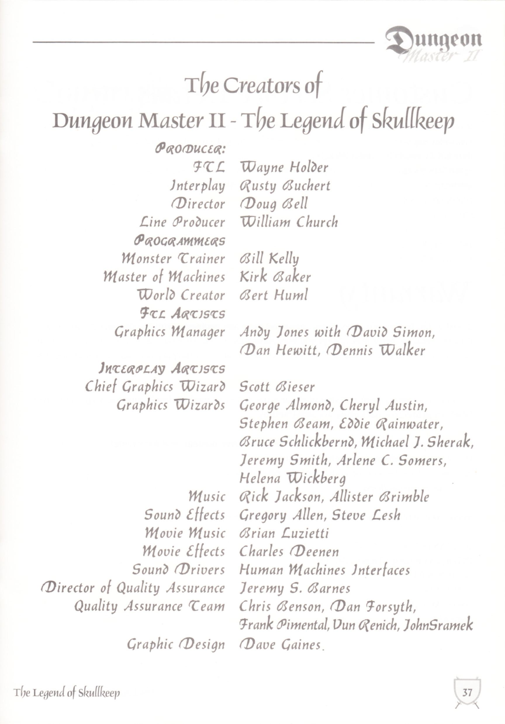Game - Dungeon Master II - UK - Macintosh - Manual - Page 039 - Scan