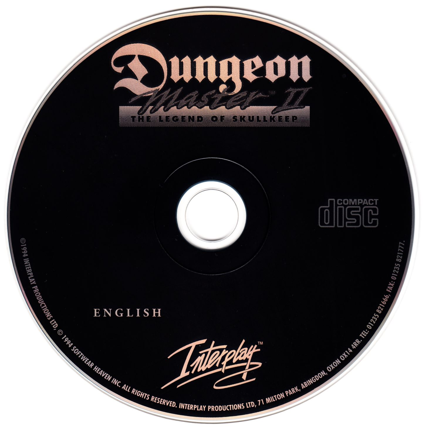 Game - Dungeon Master II - UK - PC - CD Version - Compact Disc - Front - Scan