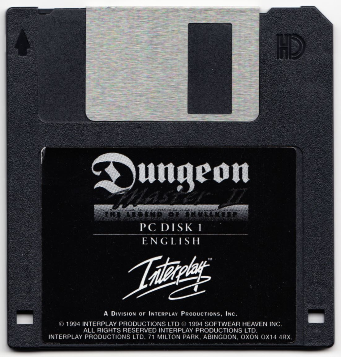 Game - Dungeon Master II - UK - PC - Floppy Version - Disk 1 - Front - Scan