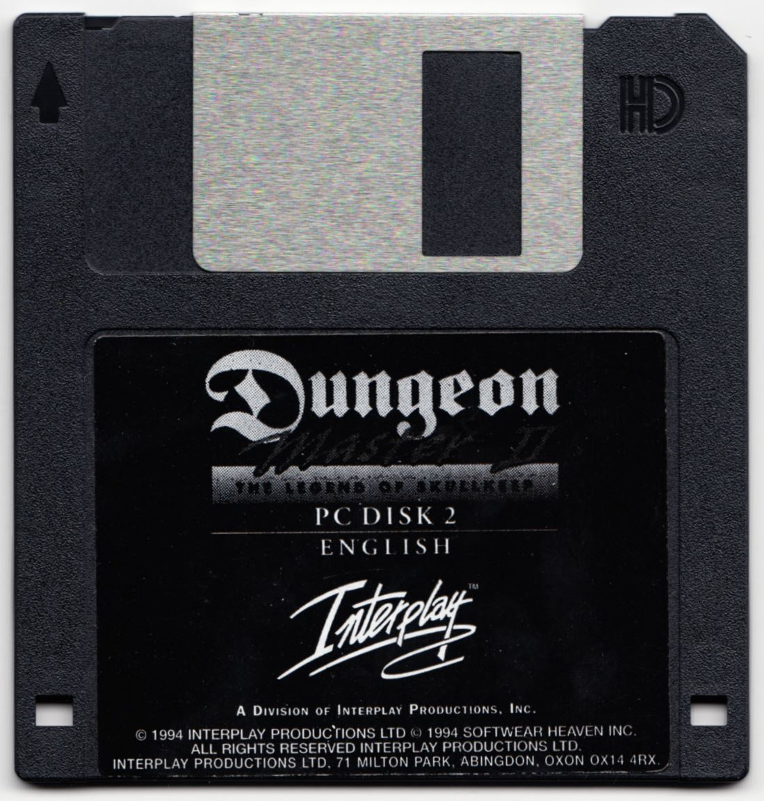 Game - Dungeon Master II - UK - PC - Floppy Version - Disk 2 - Front - Scan