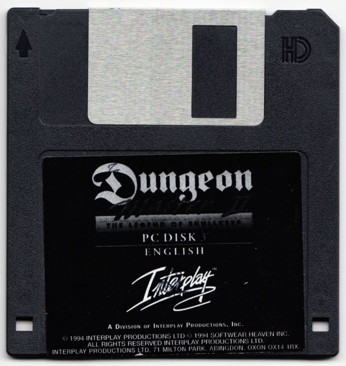 Game - Dungeon Master II - UK - PC - Floppy Version - Disk 3 - Front - Scan