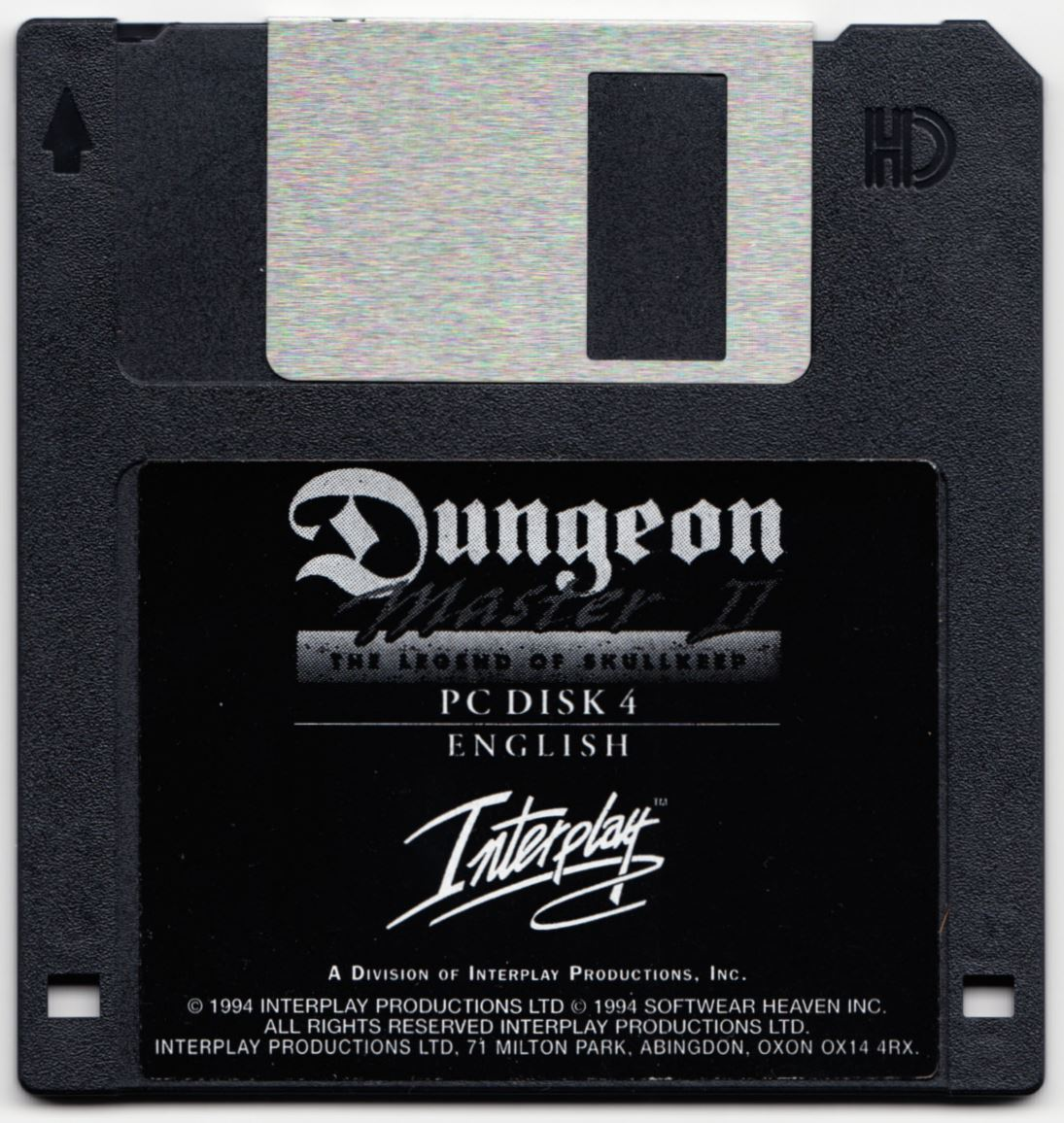Game - Dungeon Master II - UK - PC - Floppy Version - Disk 4 - Front - Scan