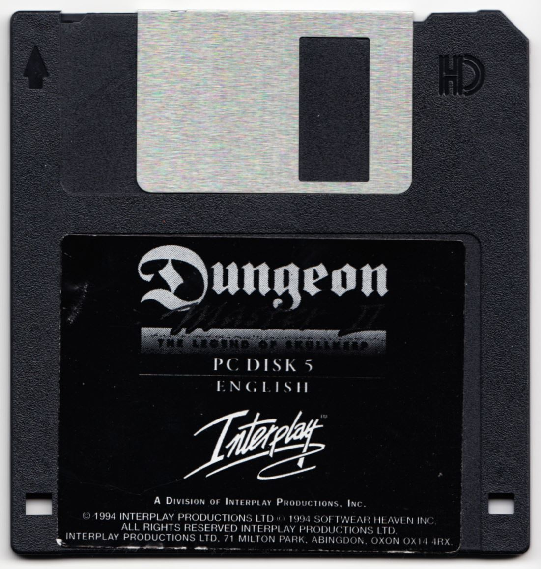 Game - Dungeon Master II - UK - PC - Floppy Version - Disk 5 - Front - Scan