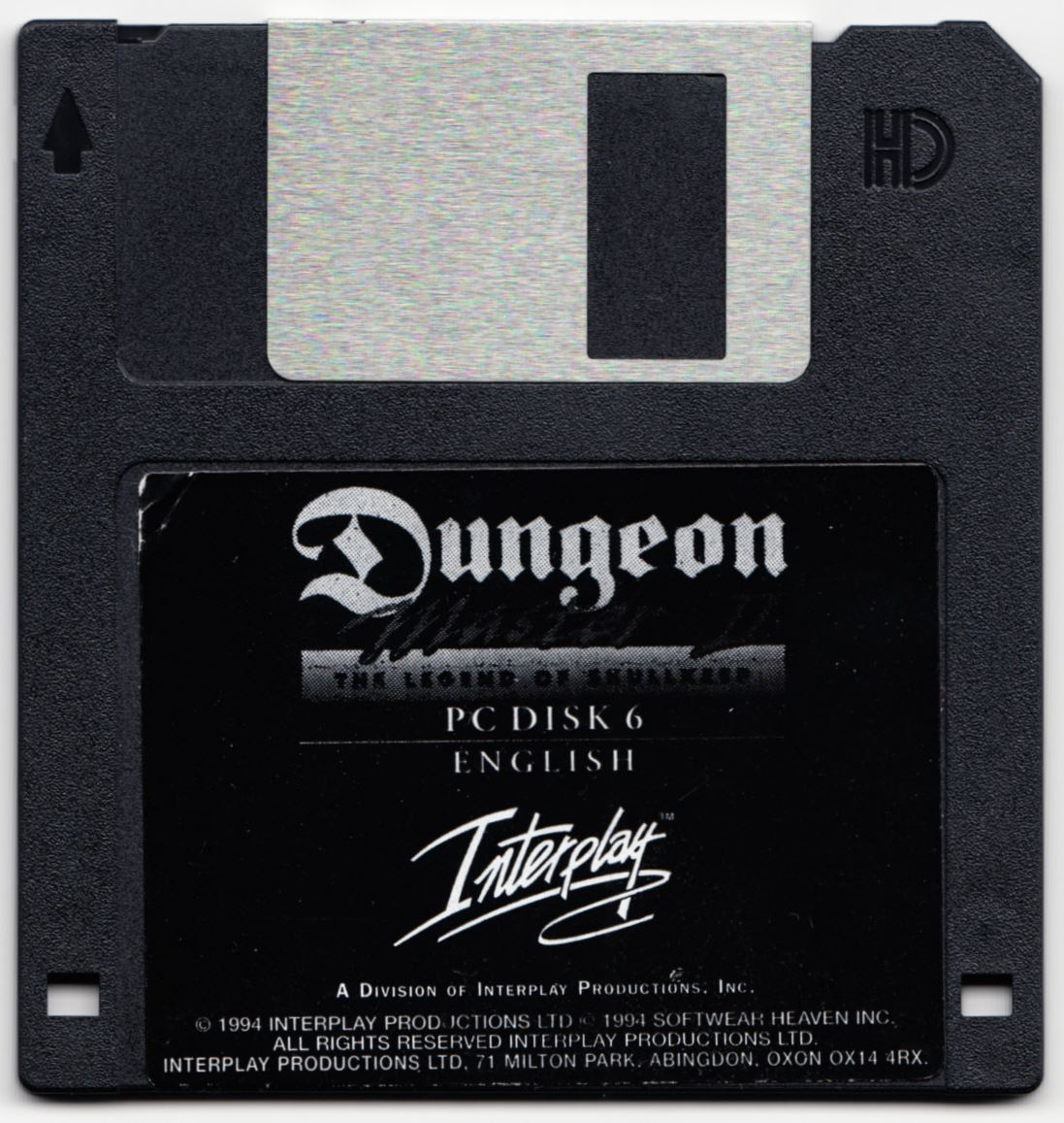 Game - Dungeon Master II - UK - PC - Floppy Version - Disk 6 - Front - Scan