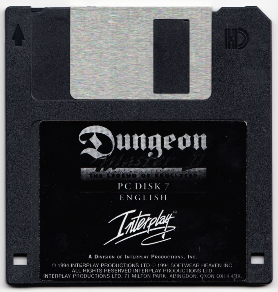 Game - Dungeon Master II - UK - PC - Floppy Version - Disk 7 - Front - Scan