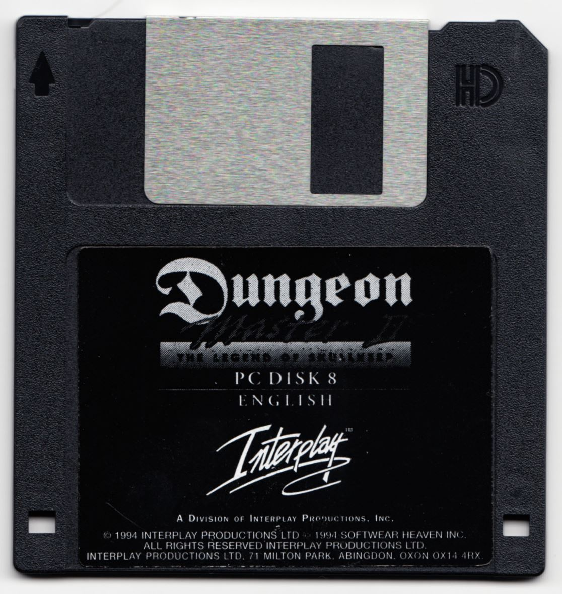 Game - Dungeon Master II - UK - PC - Floppy Version - Disk 8 - Front - Scan