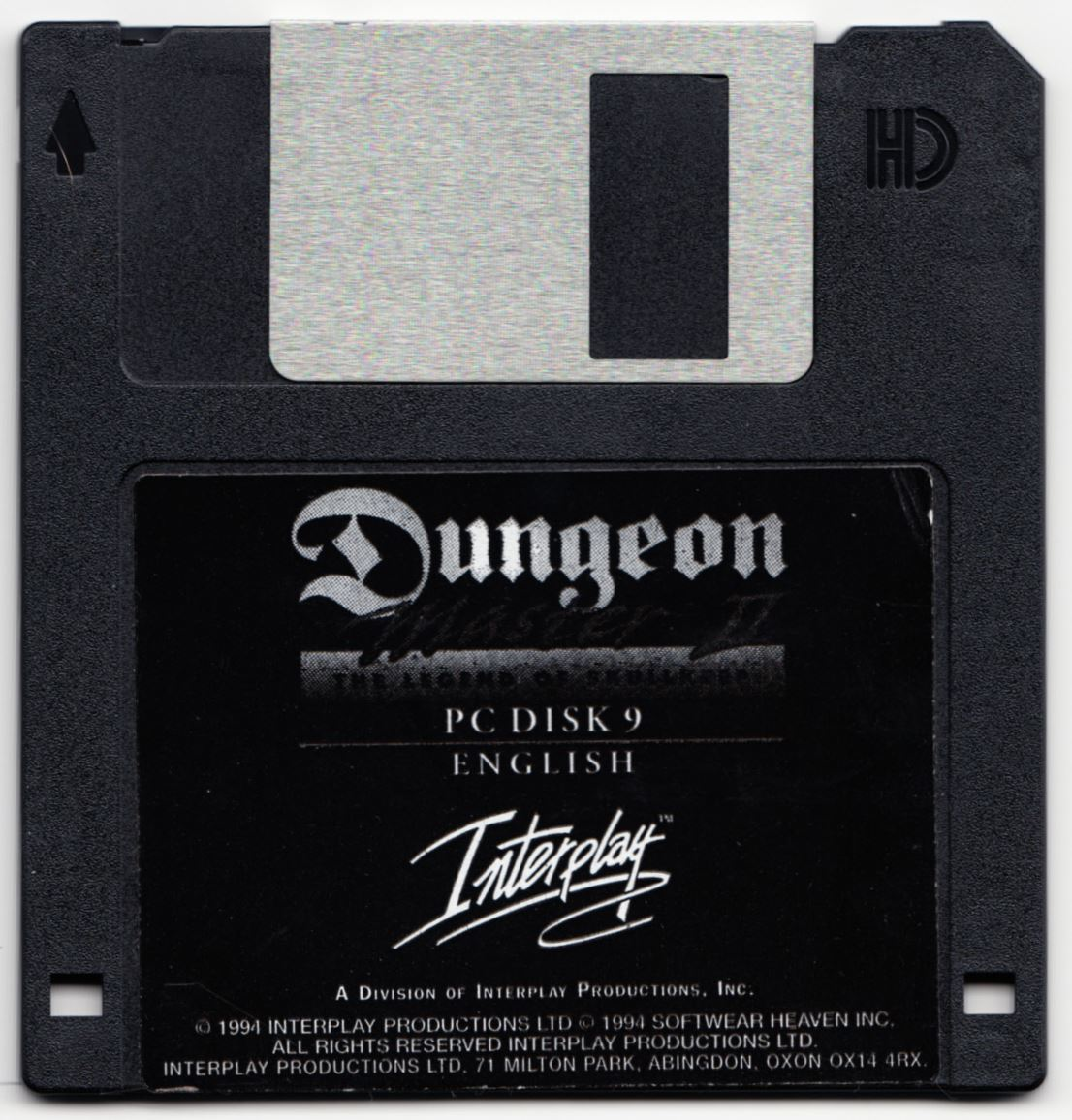 Game - Dungeon Master II - UK - PC - Floppy Version - Disk 9 - Front - Scan