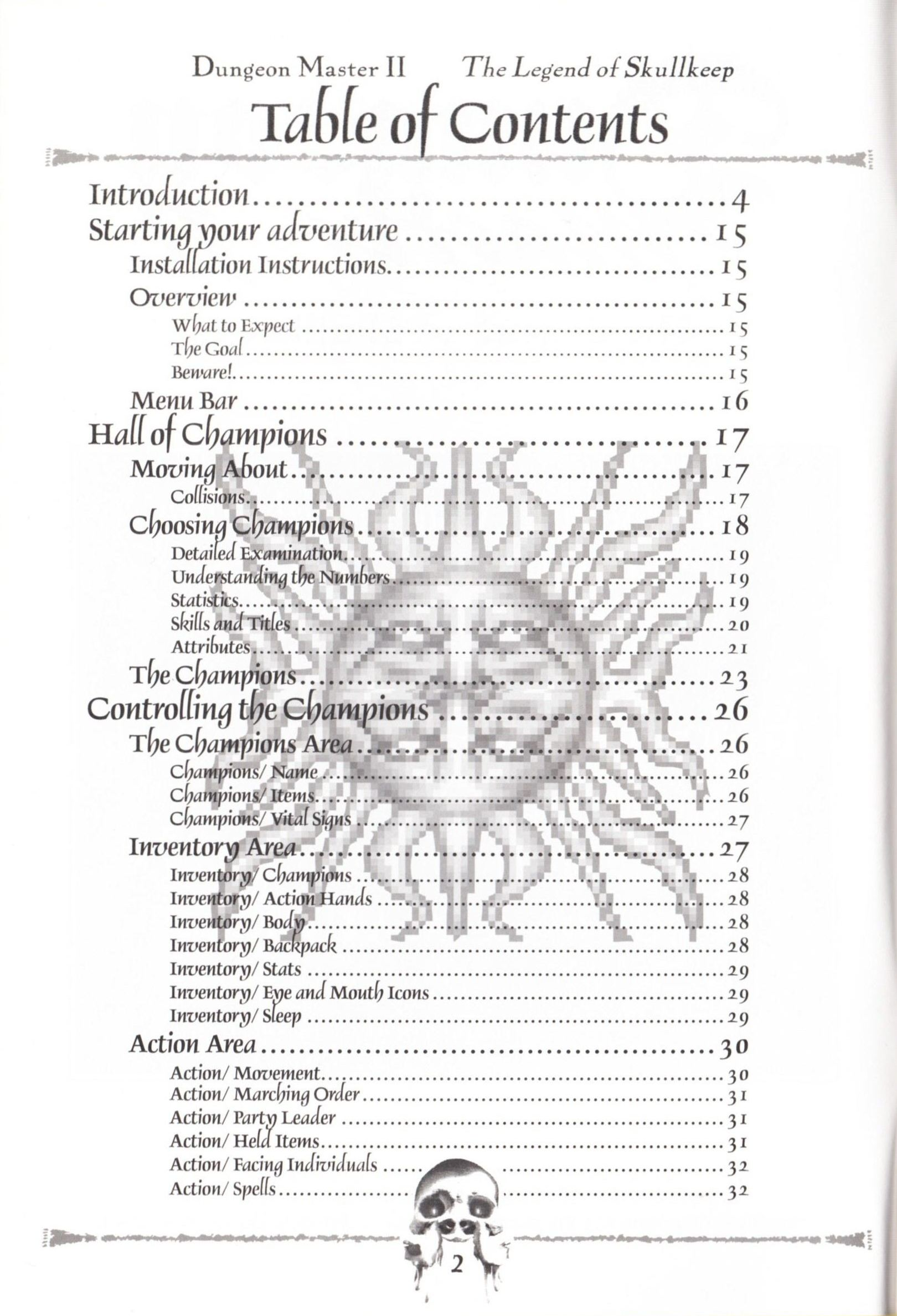 Game - Dungeon Master II - US - Macintosh - Manual - Page 004 - Scan