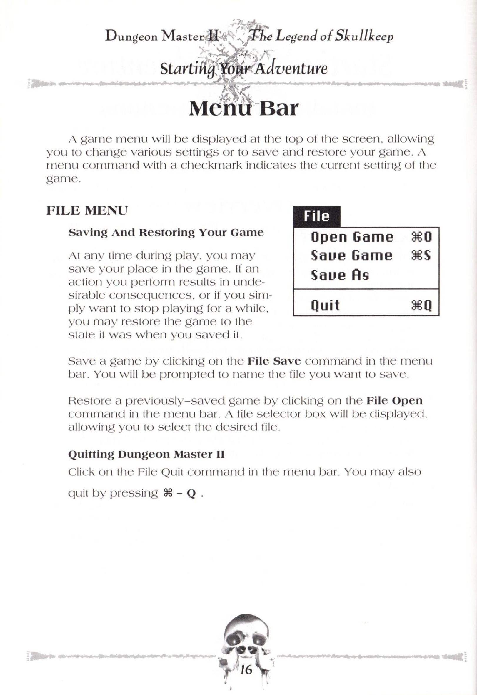 Game - Dungeon Master II - US - Macintosh - Manual - Page 018 - Scan