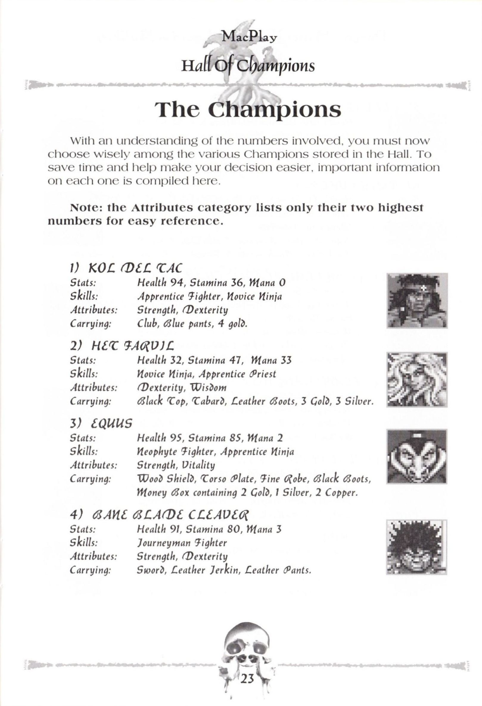 Game - Dungeon Master II - US - Macintosh - Manual - Page 025 - Scan