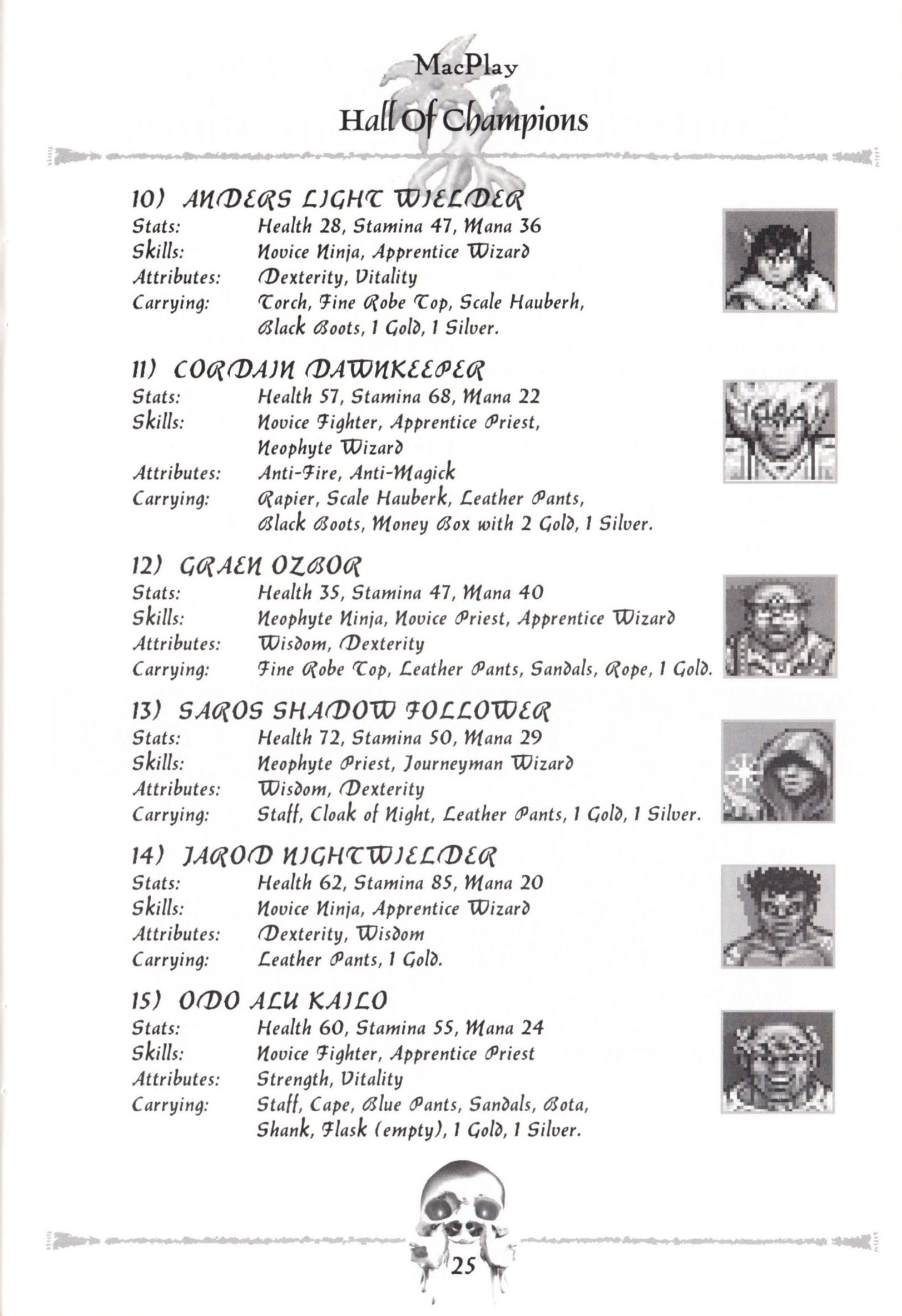 Game - Dungeon Master II - US - Macintosh - Manual - Page 027 - Scan