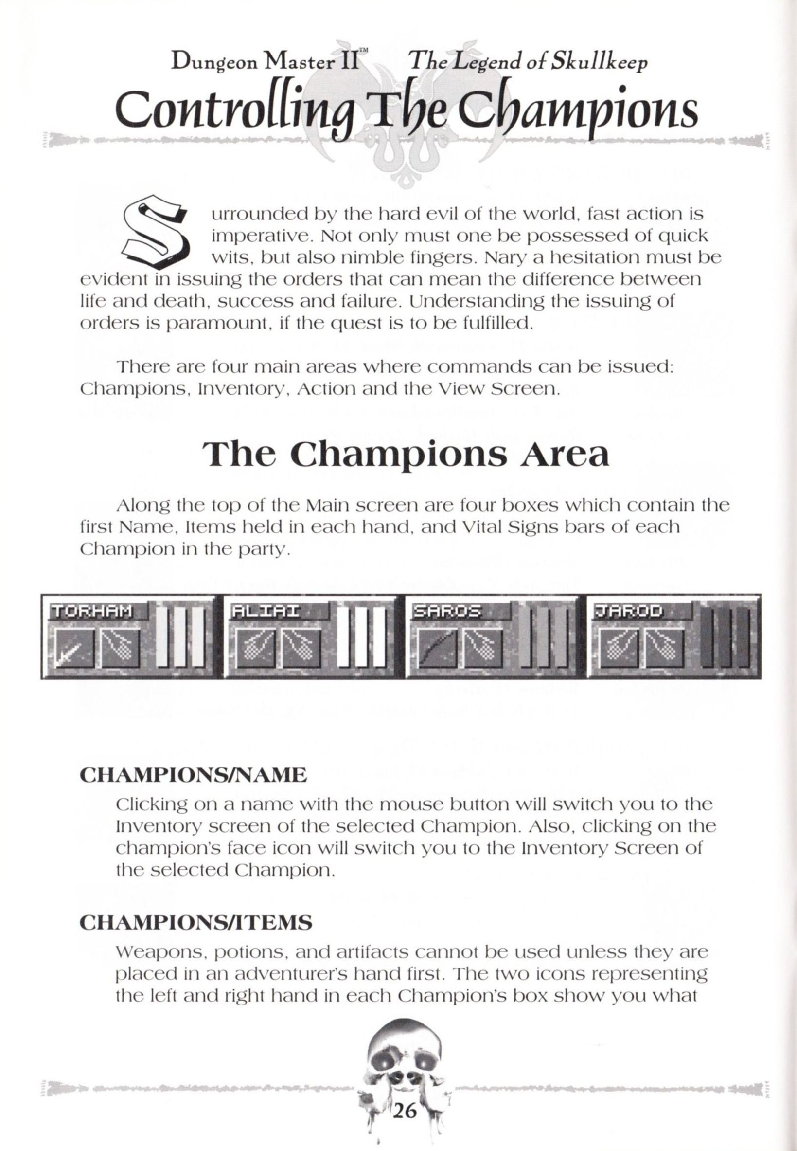 Game - Dungeon Master II - US - Macintosh - Manual - Page 028 - Scan