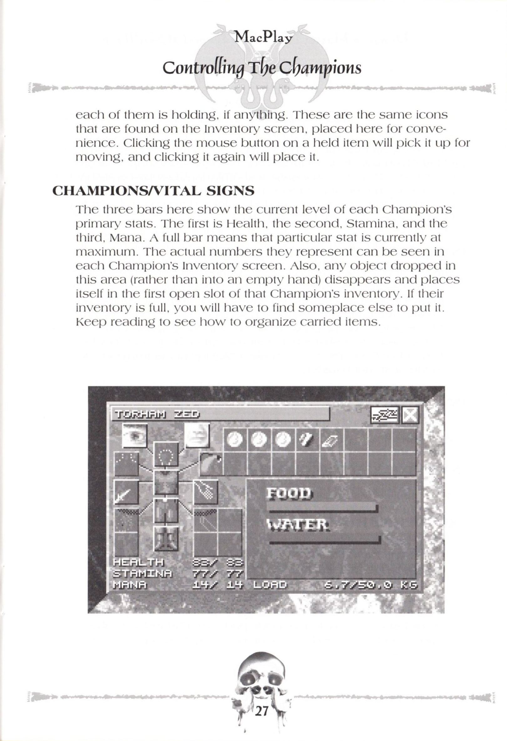 Game - Dungeon Master II - US - Macintosh - Manual - Page 029 - Scan