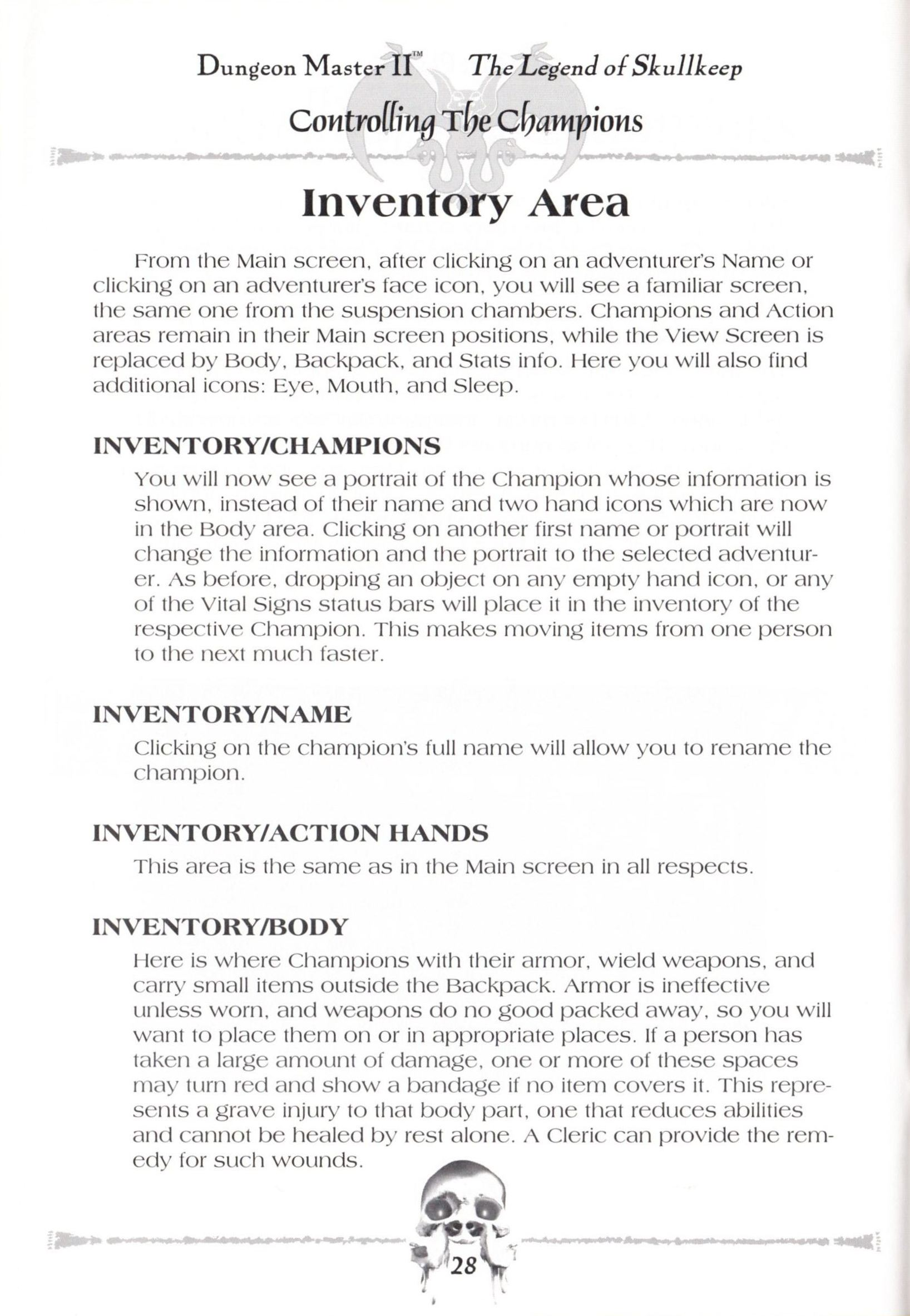 Game - Dungeon Master II - US - Macintosh - Manual - Page 030 - Scan