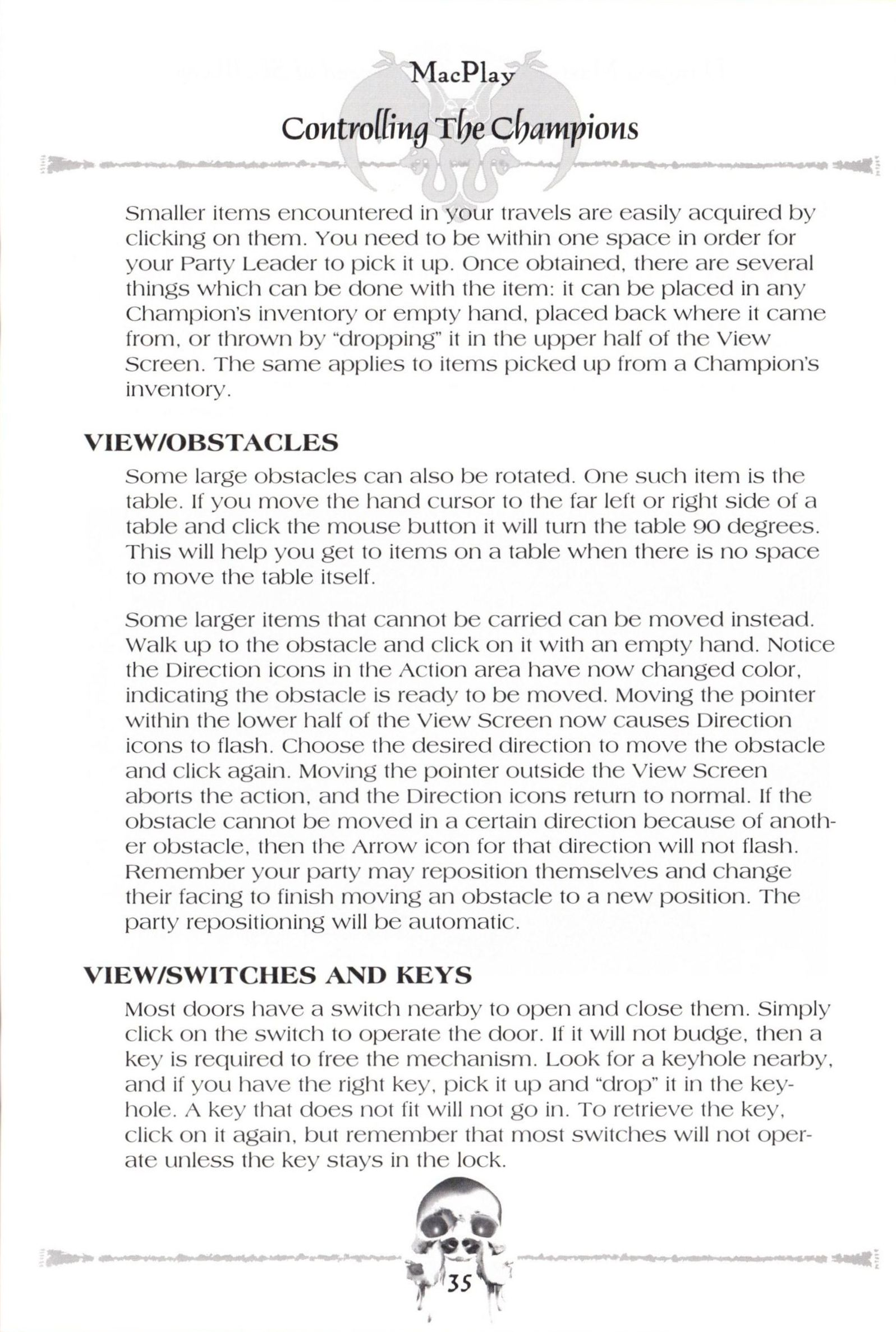 Game - Dungeon Master II - US - Macintosh - Manual - Page 037 - Scan
