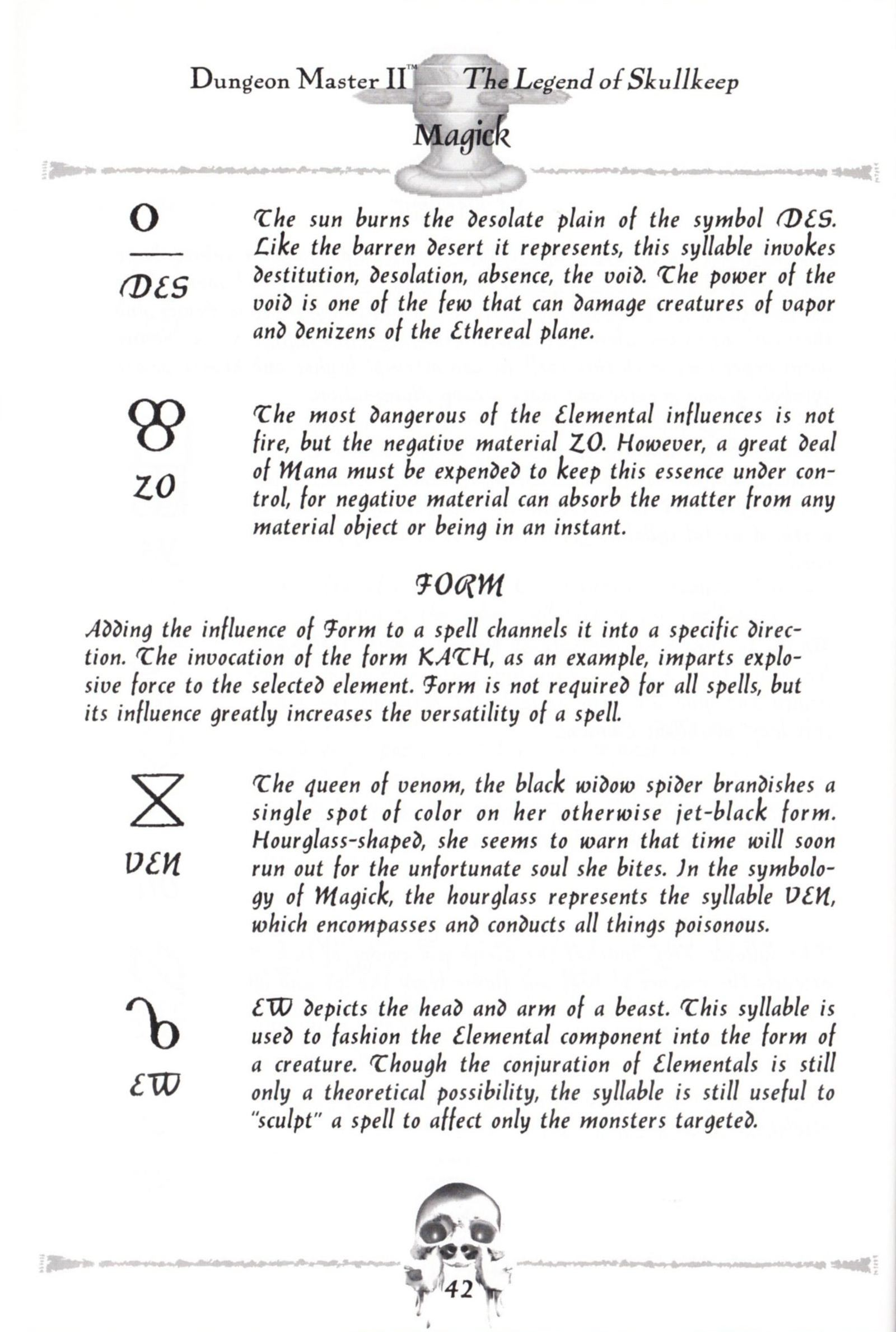 Game - Dungeon Master II - US - Macintosh - Manual - Page 044 - Scan