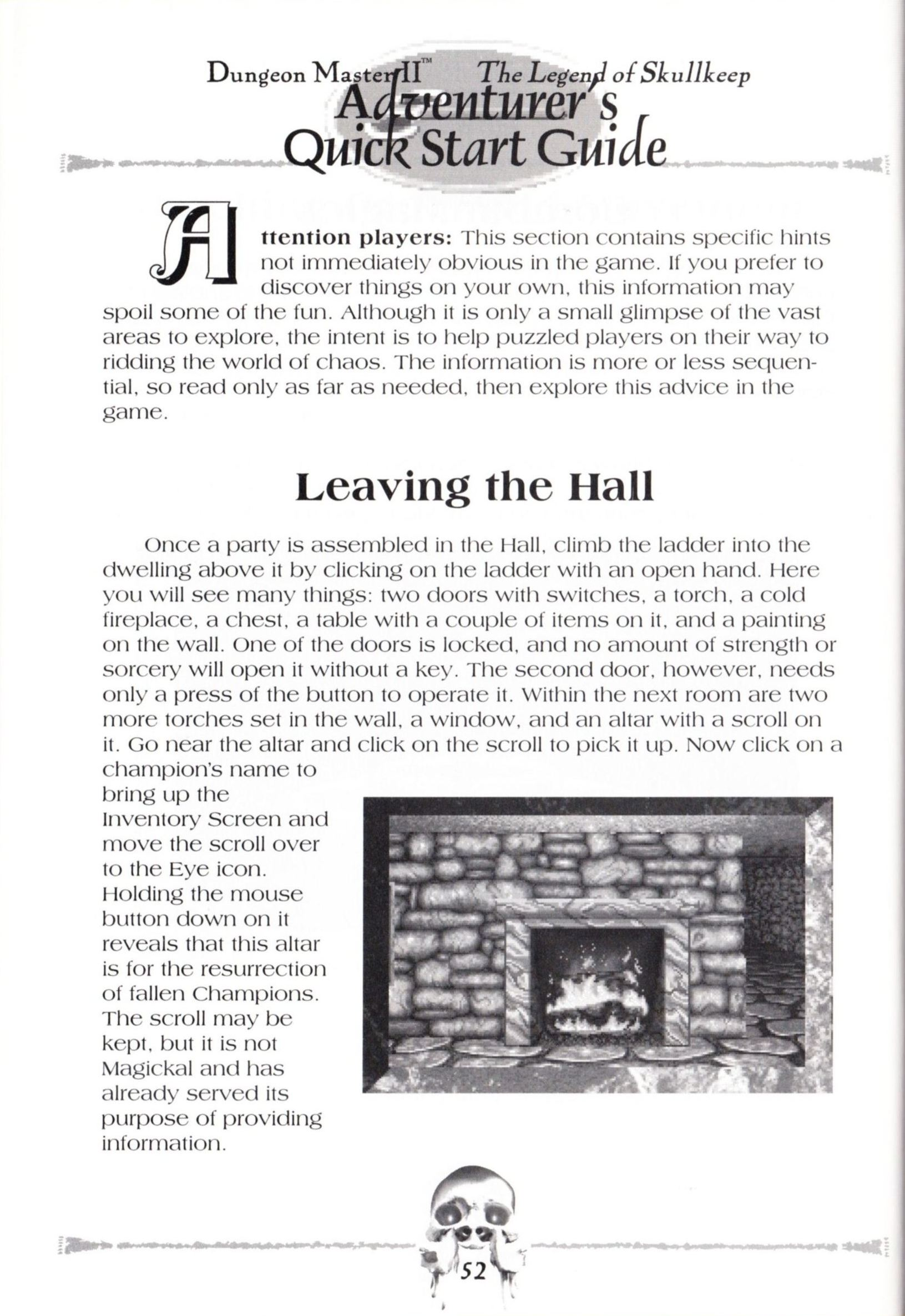 Game - Dungeon Master II - US - Macintosh - Manual - Page 054 - Scan