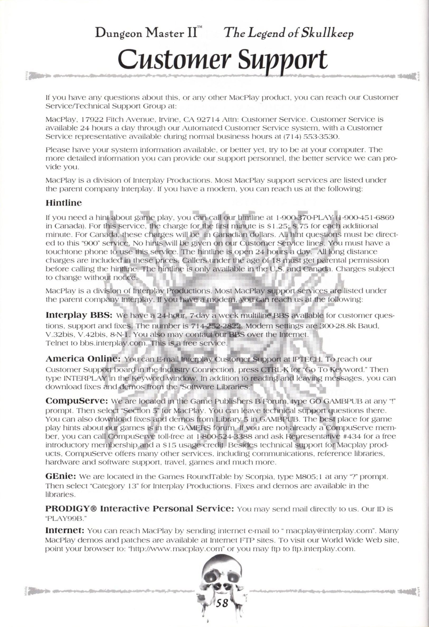 Game - Dungeon Master II - US - Macintosh - Manual - Page 060 - Scan