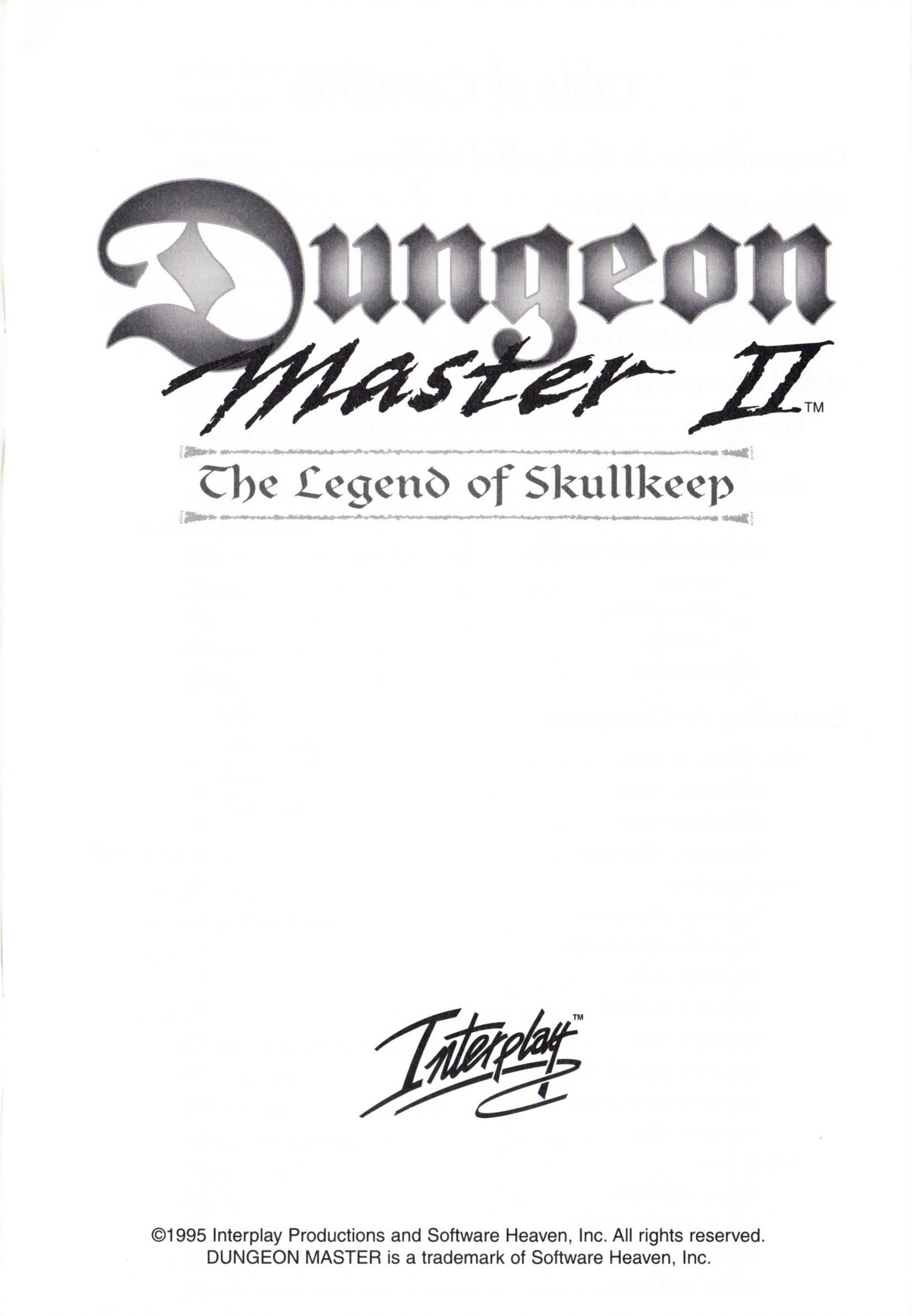 Game - Dungeon Master II - US - PC - Big Box - Manual - Page 003 - Scan